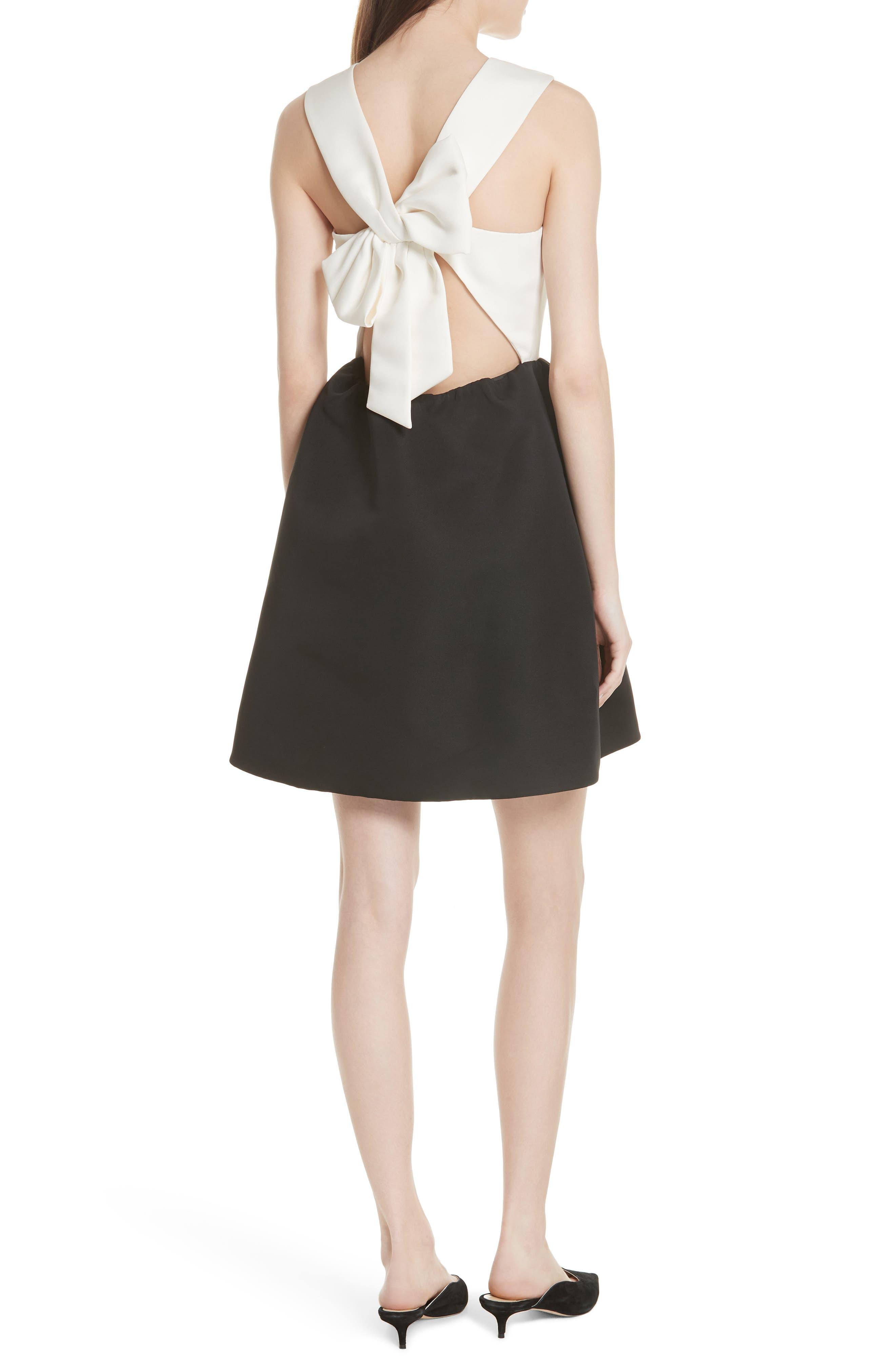 bow back mini dress,                             Alternate thumbnail 2, color,                             017