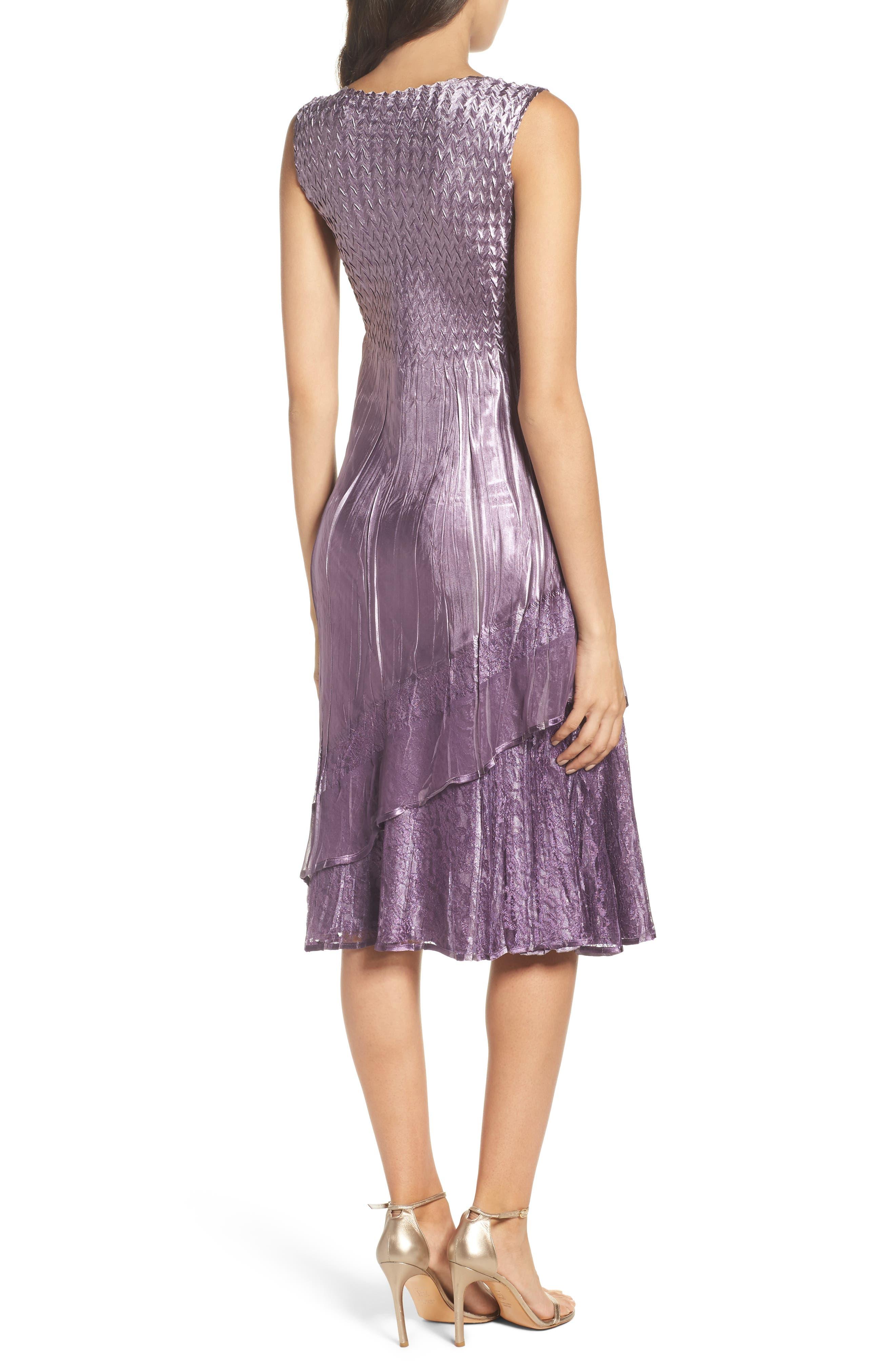 Charmeuse A-Line Dress & Chiffon Jacket,                             Alternate thumbnail 4, color,                             508