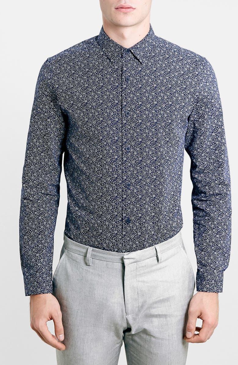 ce6cb66b7a66 Topman Slim Fit Floral Print Dress Shirt