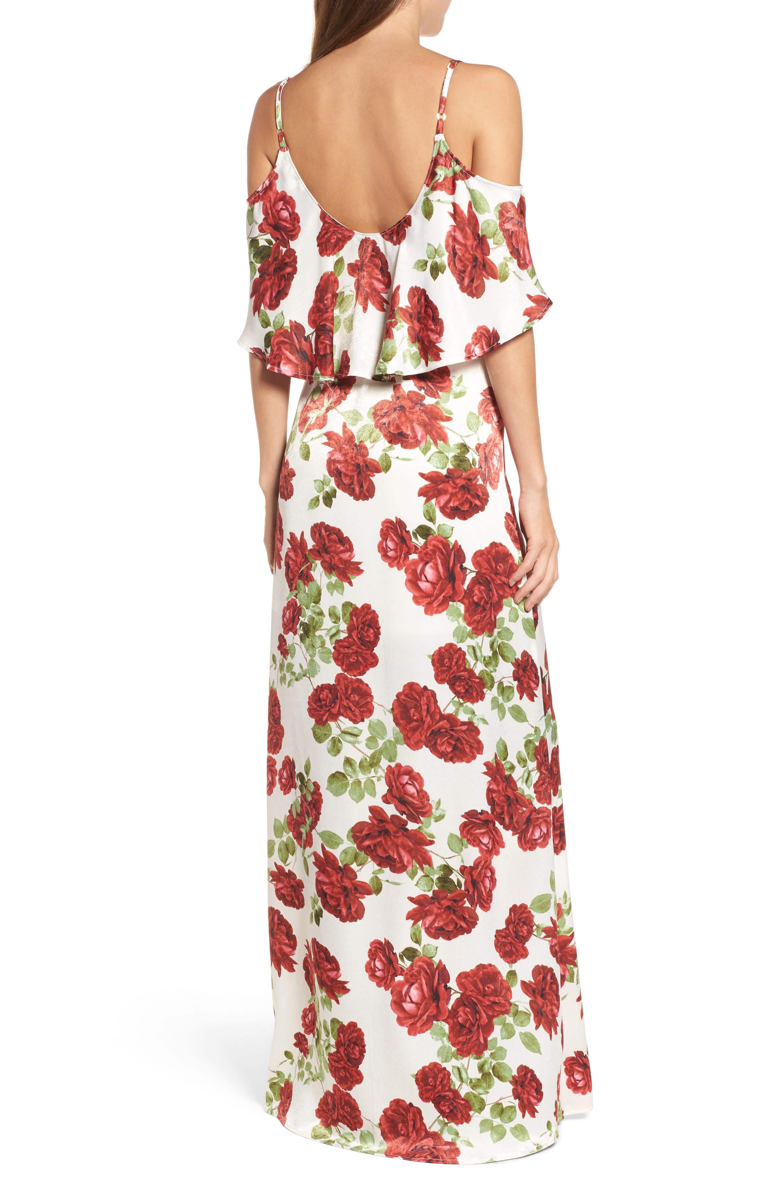 Caitlin Cold Shoulder Chiffon Gown,                             Alternate thumbnail 24, color,
