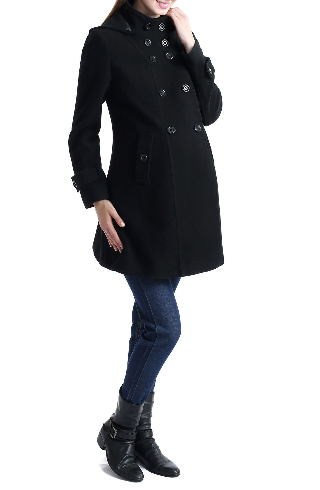 KIMI AND KAI,                             'Penelope' Maternity Trench Coat,                             Alternate thumbnail 3, color,                             001