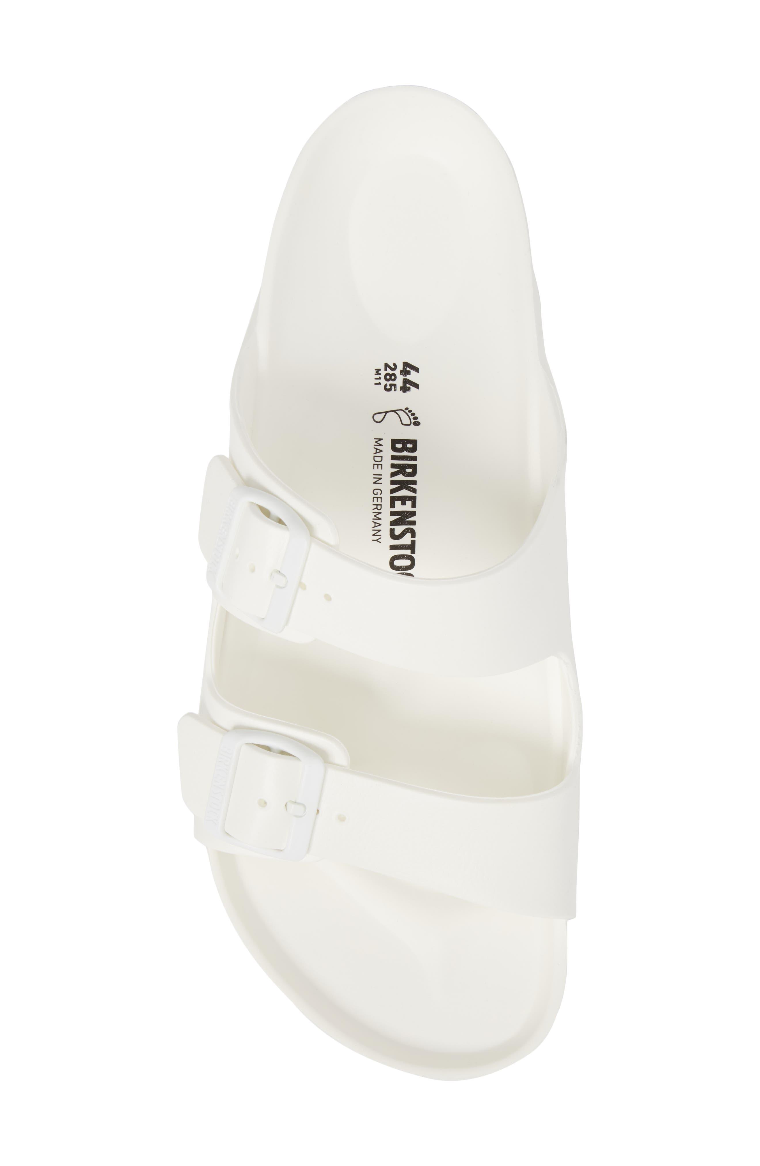 'Essentials - Arizona EVA' Waterproof Slide Sandal,                             Alternate thumbnail 5, color,                             WHITE