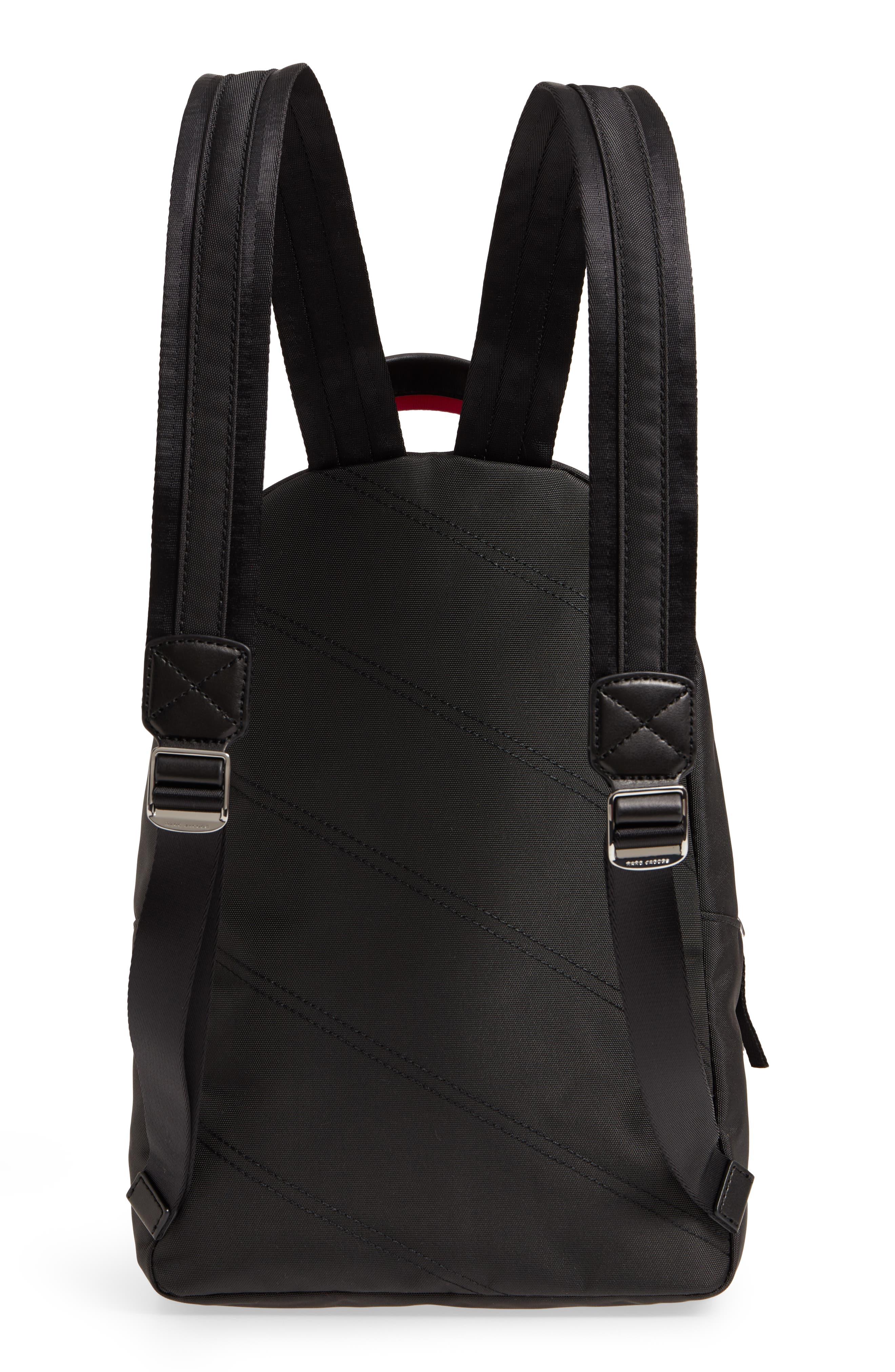 Love Medium Trek Nylon & Genuine Shearling Backpack,                             Alternate thumbnail 3, color,                             002