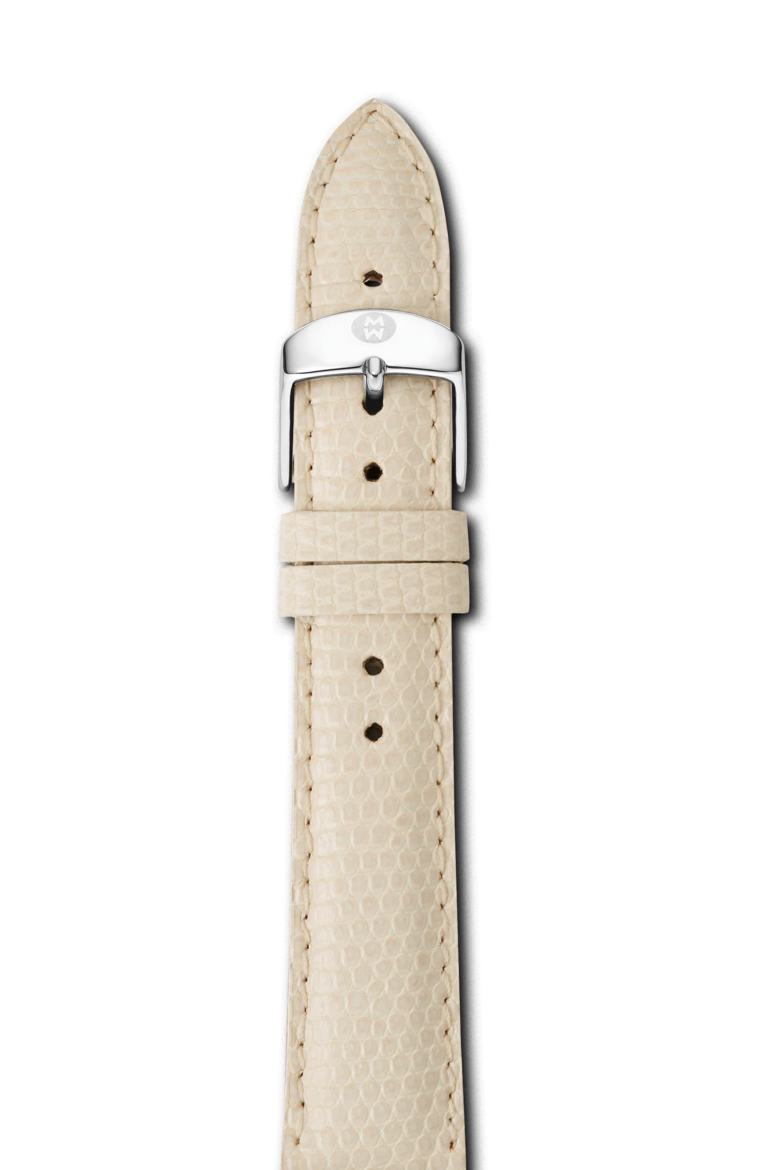 18mm Lizardskin Watch Strap,                         Main,                         color, VANILLA