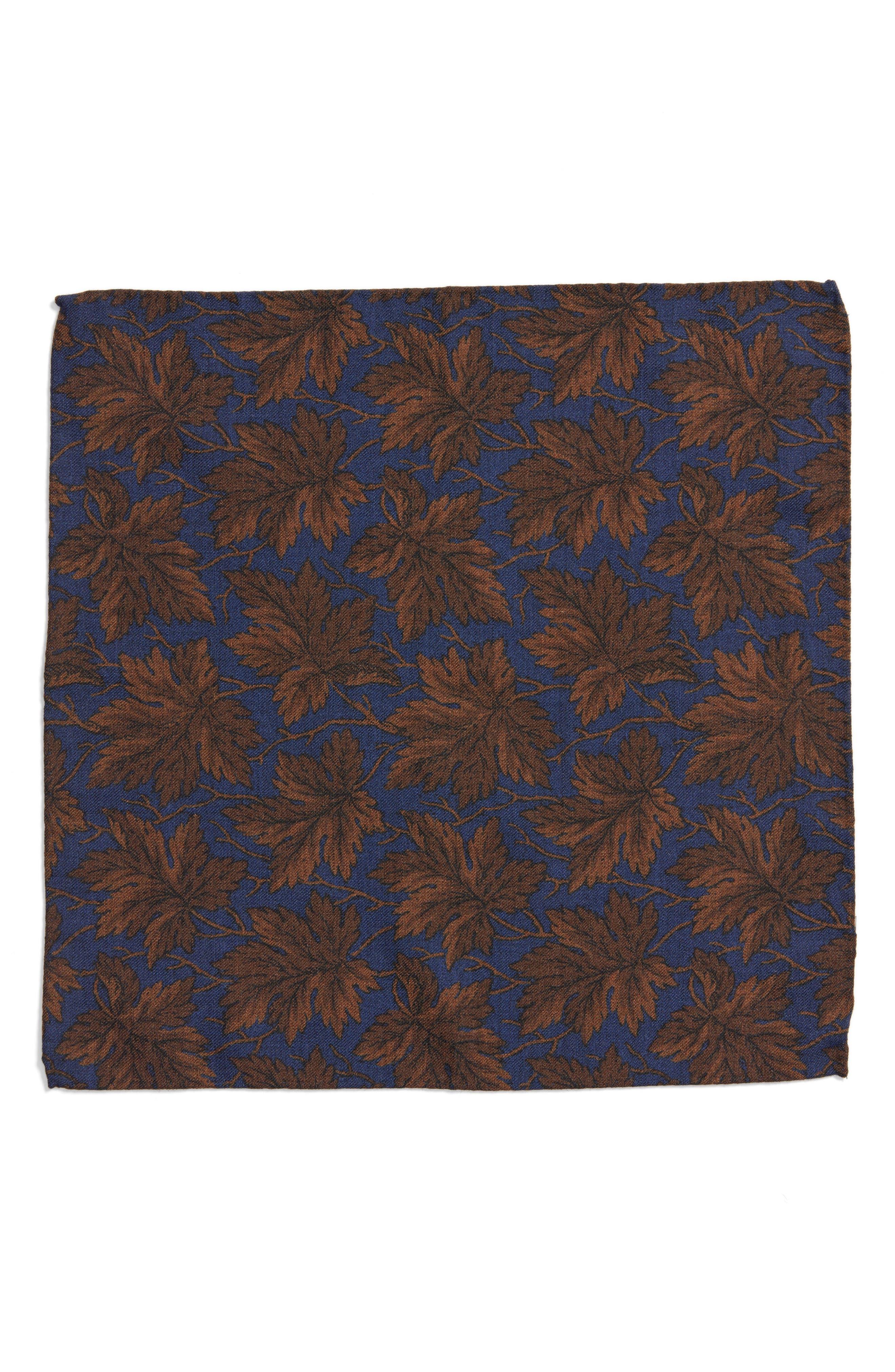 Fall Leaf Wool Pocket Square,                             Alternate thumbnail 2, color,                             400