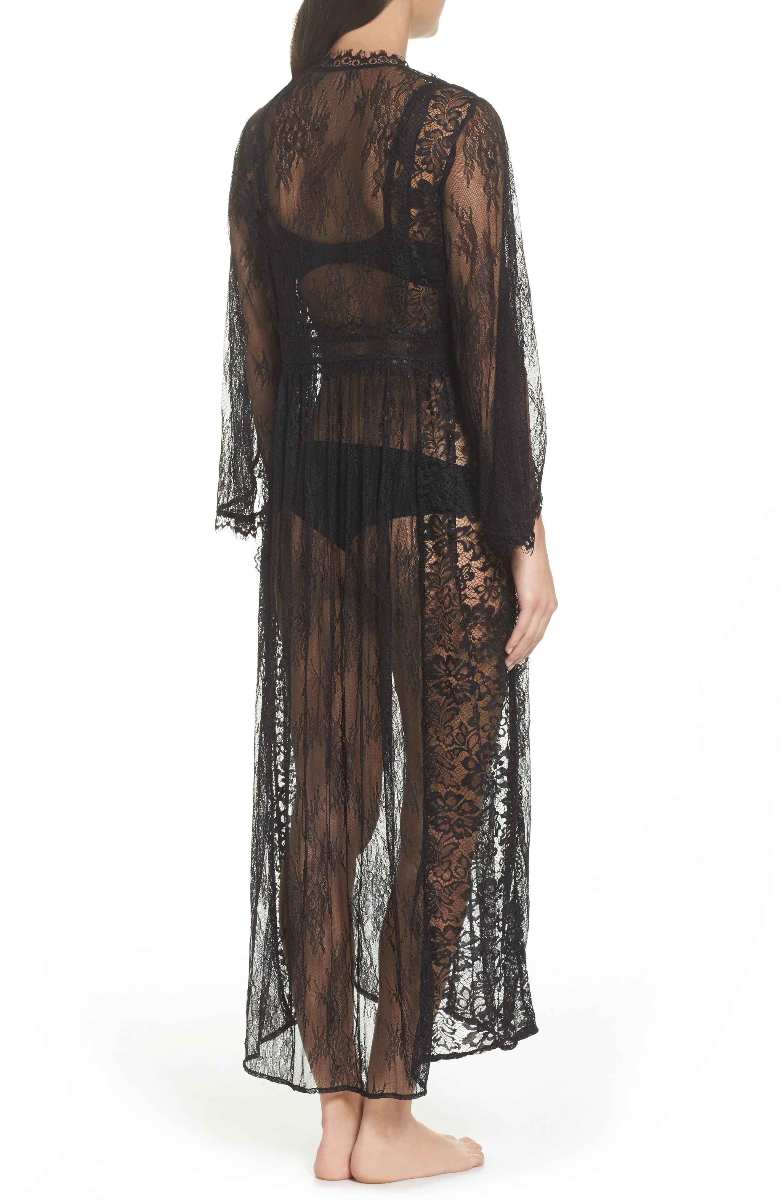 Intimately FP Chelsea Lace Robe,                             Alternate thumbnail 2, color,                             001
