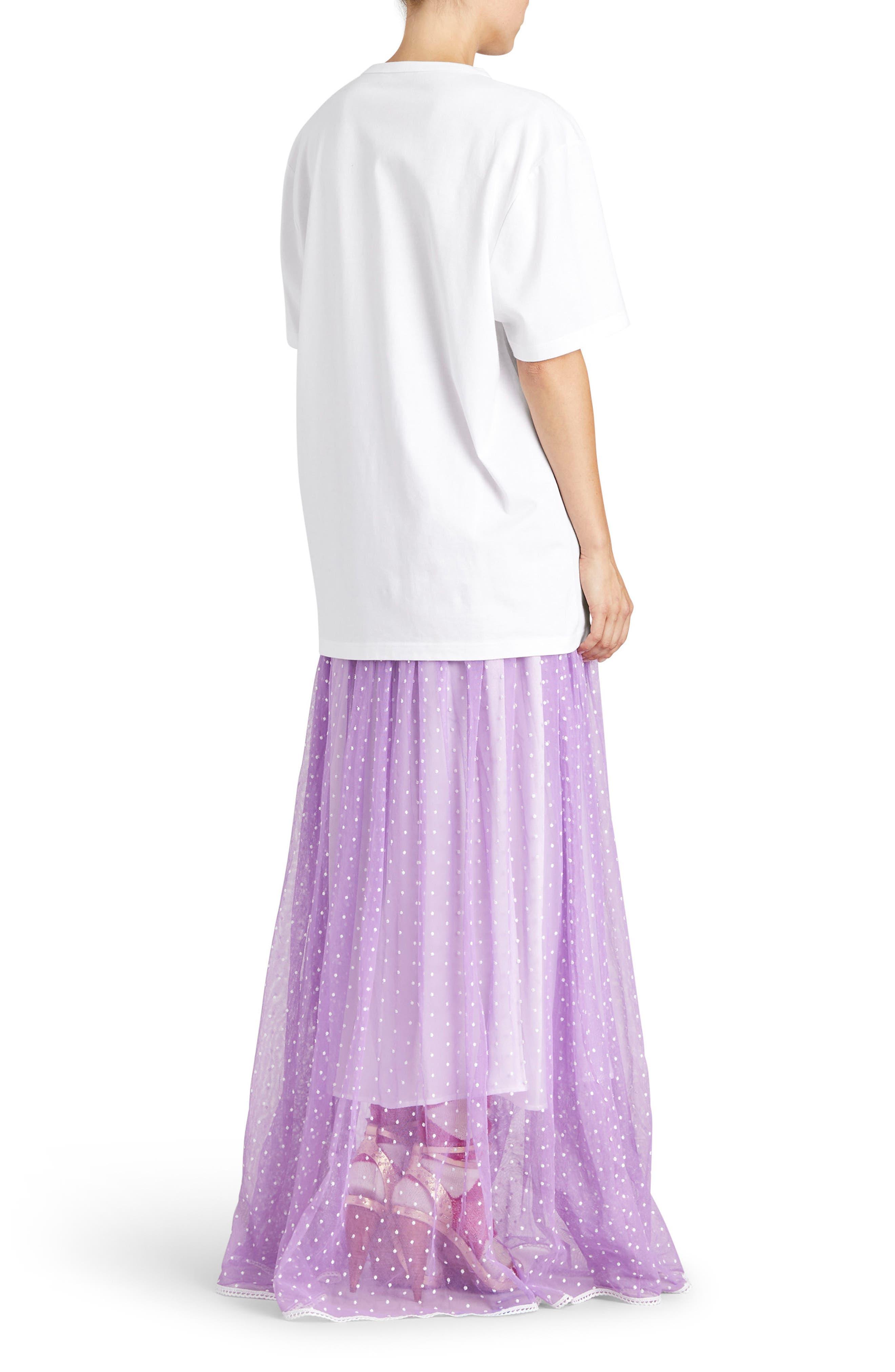 Flocked Tulle Maxi Skirt,                             Alternate thumbnail 6, color,                             520