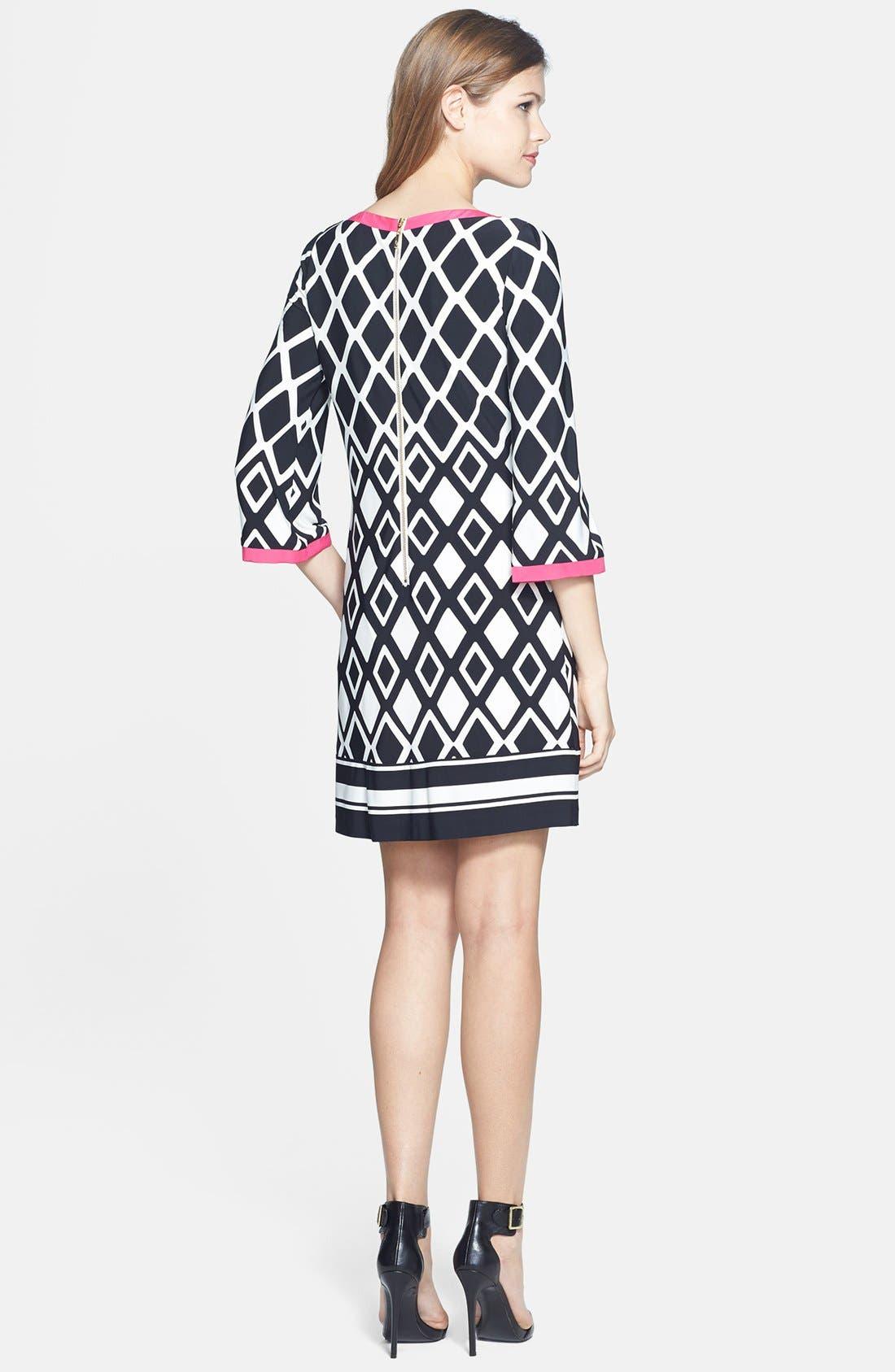 ELIZA J,                             Print Stretch Jersey Shift Dress,                             Alternate thumbnail 6, color,                             001