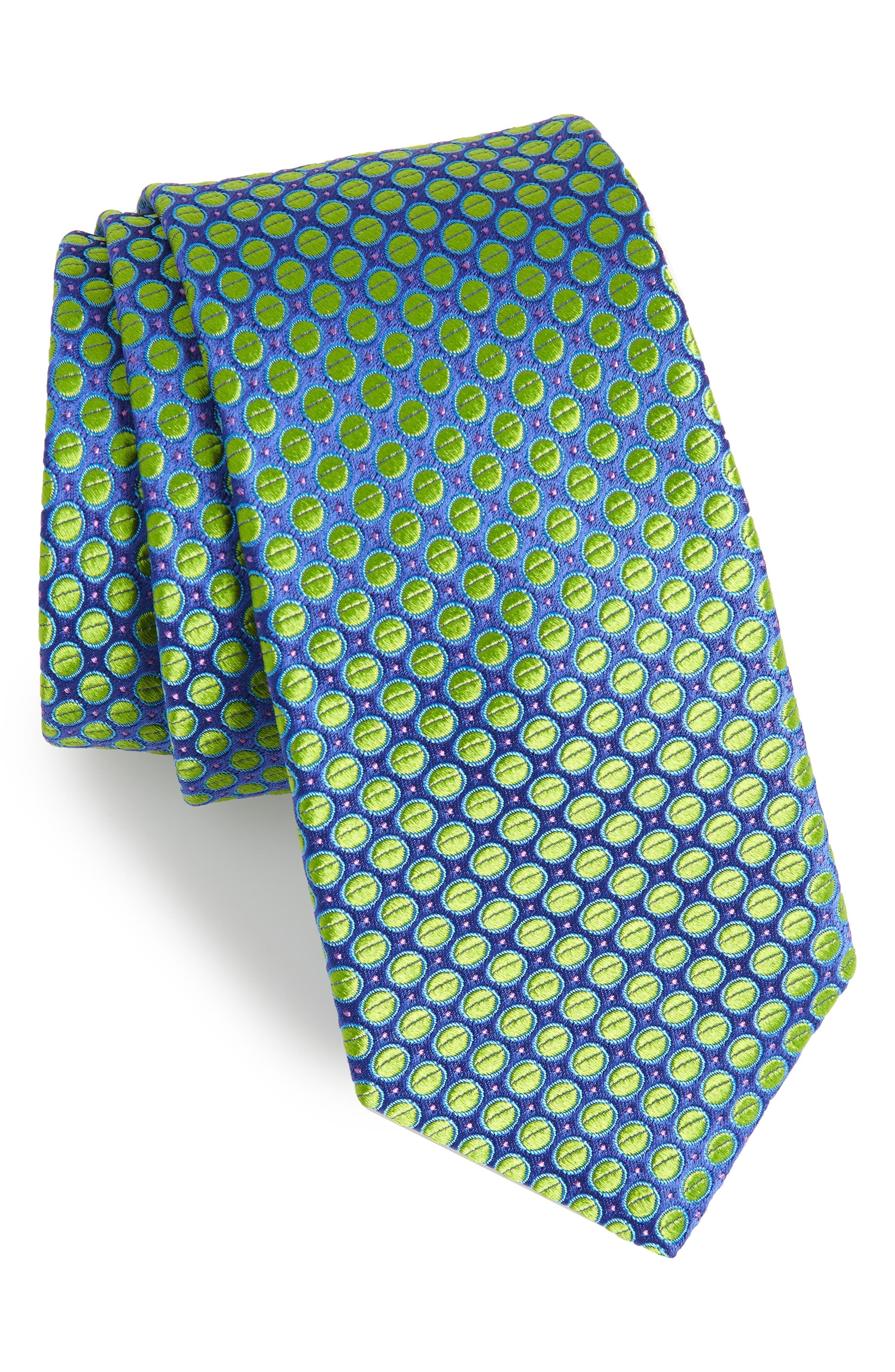 Dot Silk Tie,                         Main,                         color, 399
