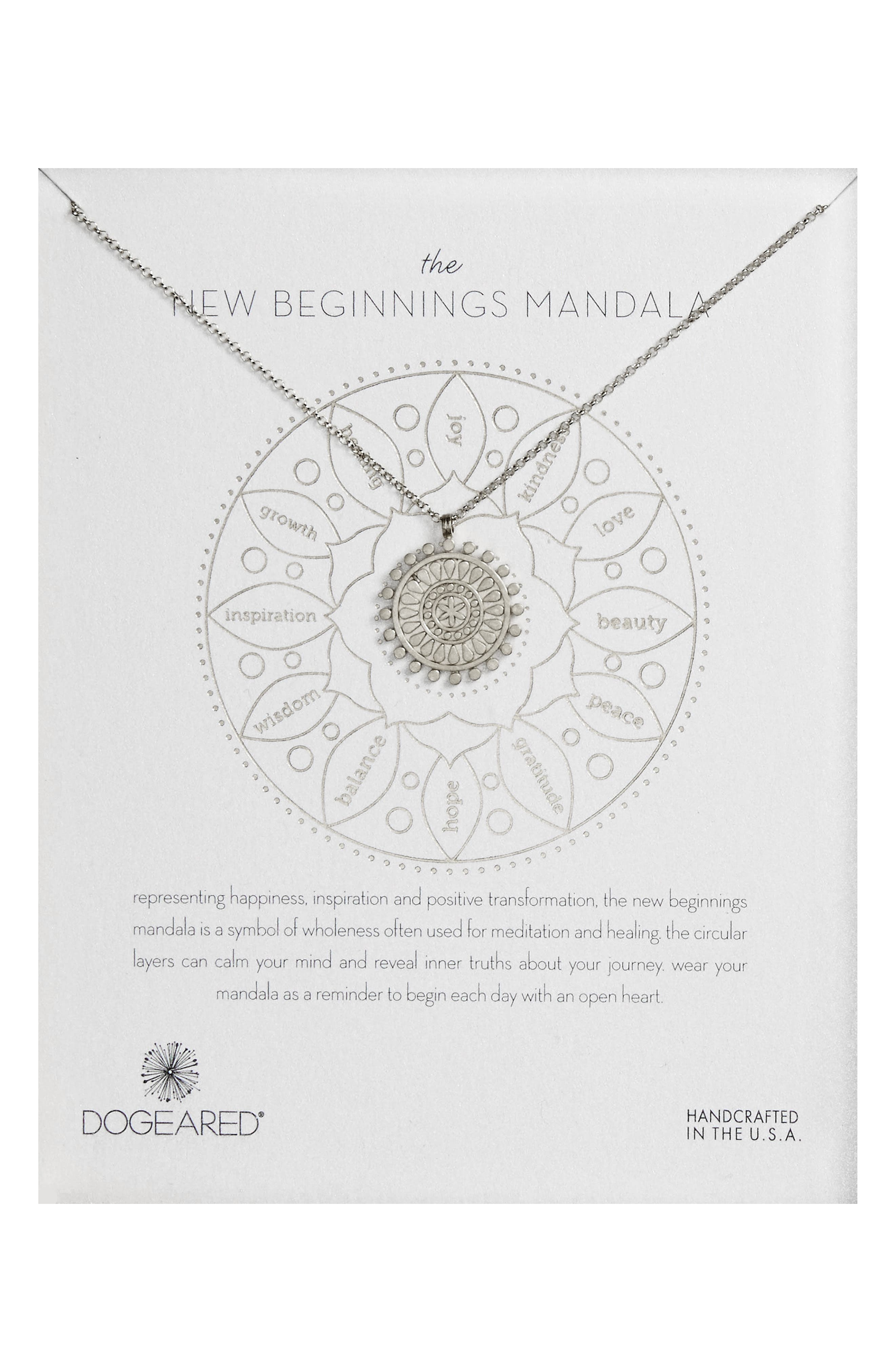 The New Beginnings Mandala Pendant Necklace,                         Main,                         color,