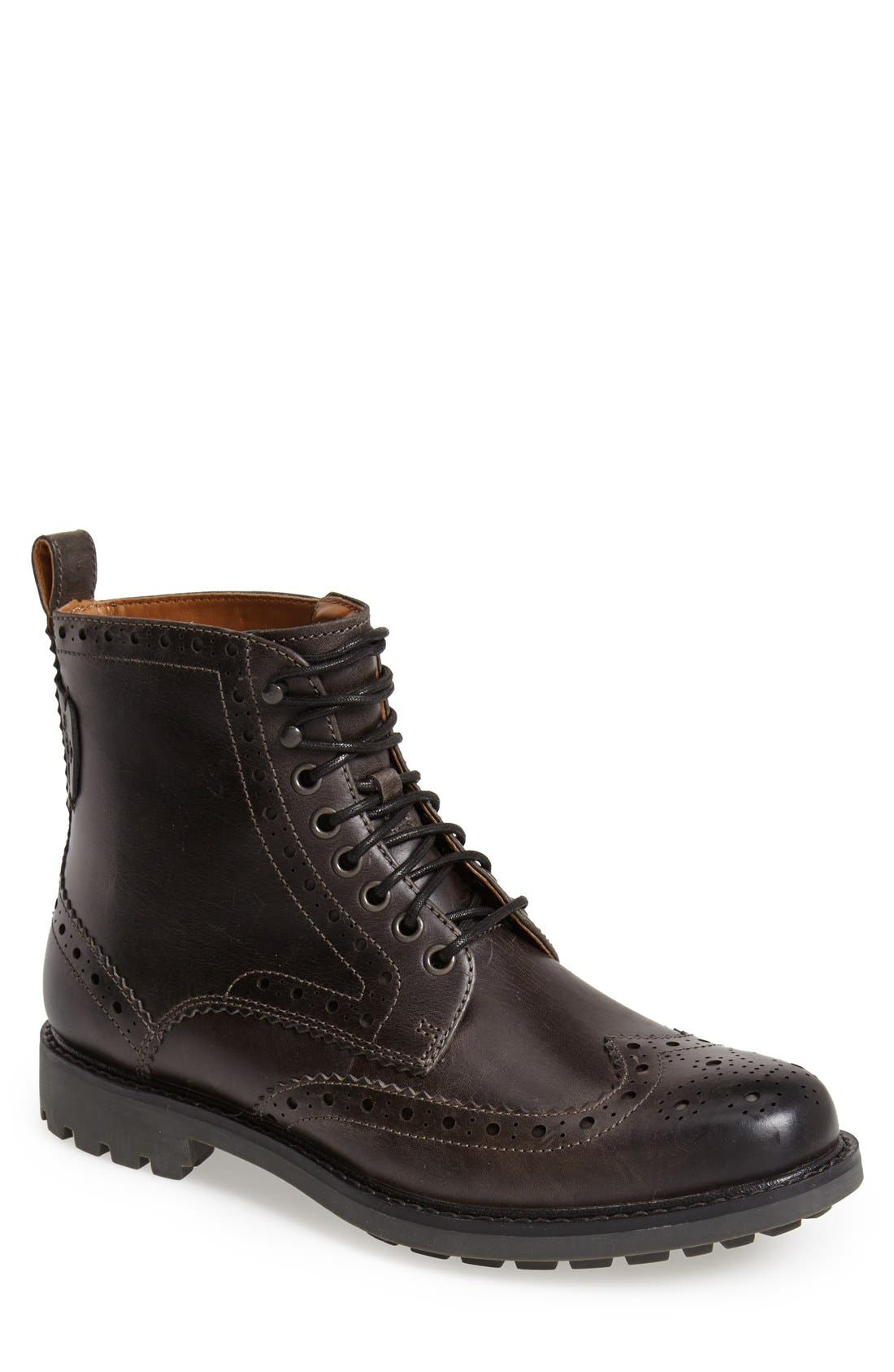'Montacute Lord' Wingtip Boot,                             Main thumbnail 1, color,                             020