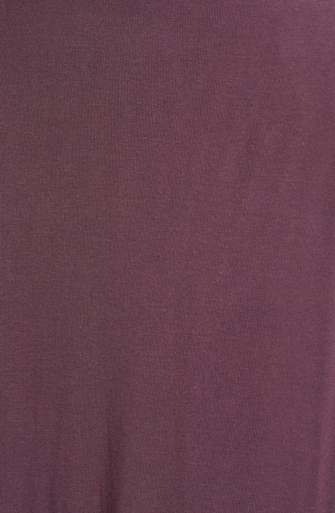 High/Low Jersey Cardigan,                             Alternate thumbnail 4, color,                             BURGUNDY STEM