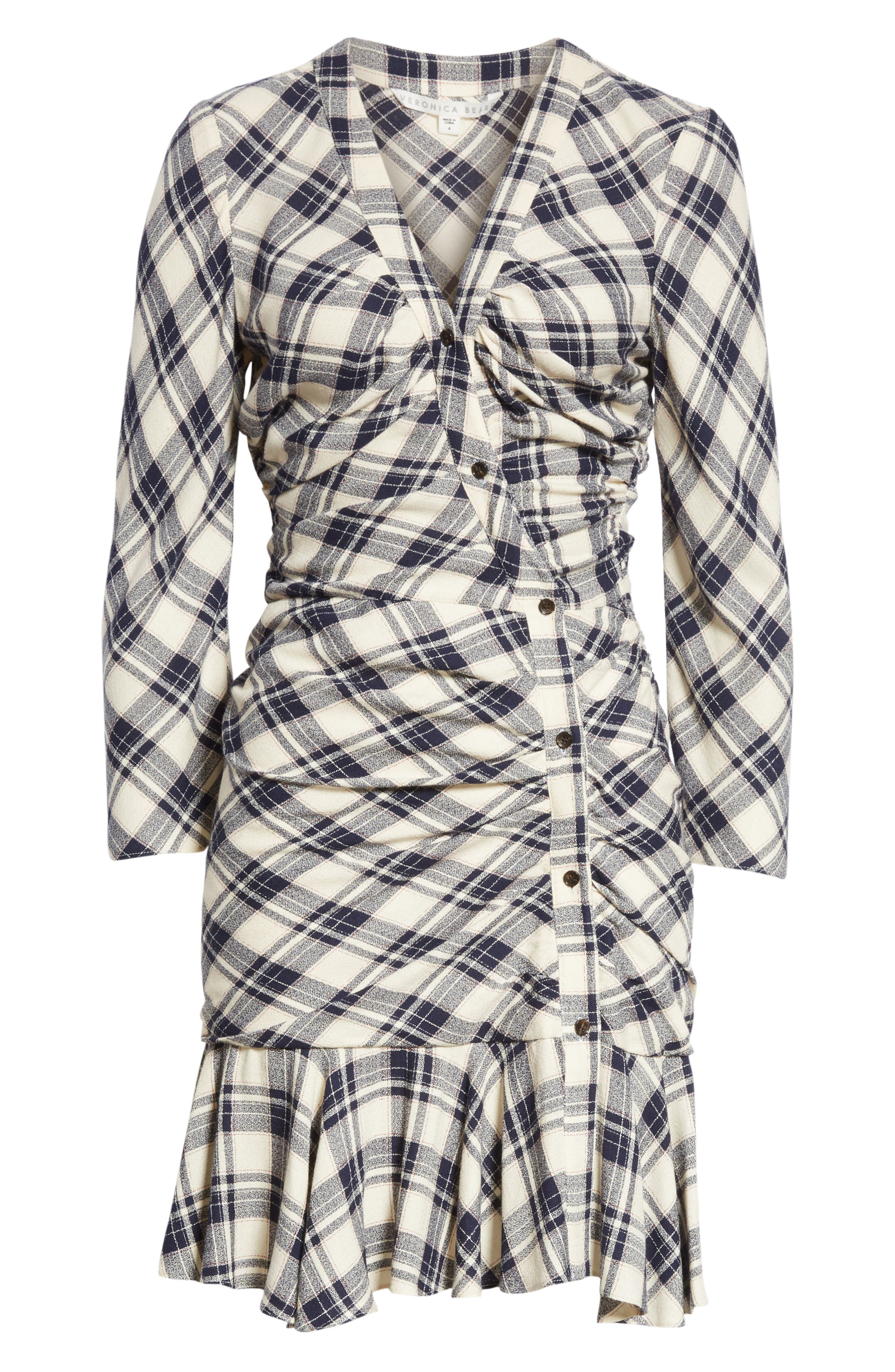 Rowe Asymmetrical Button Dress,                             Alternate thumbnail 6, color,                             417