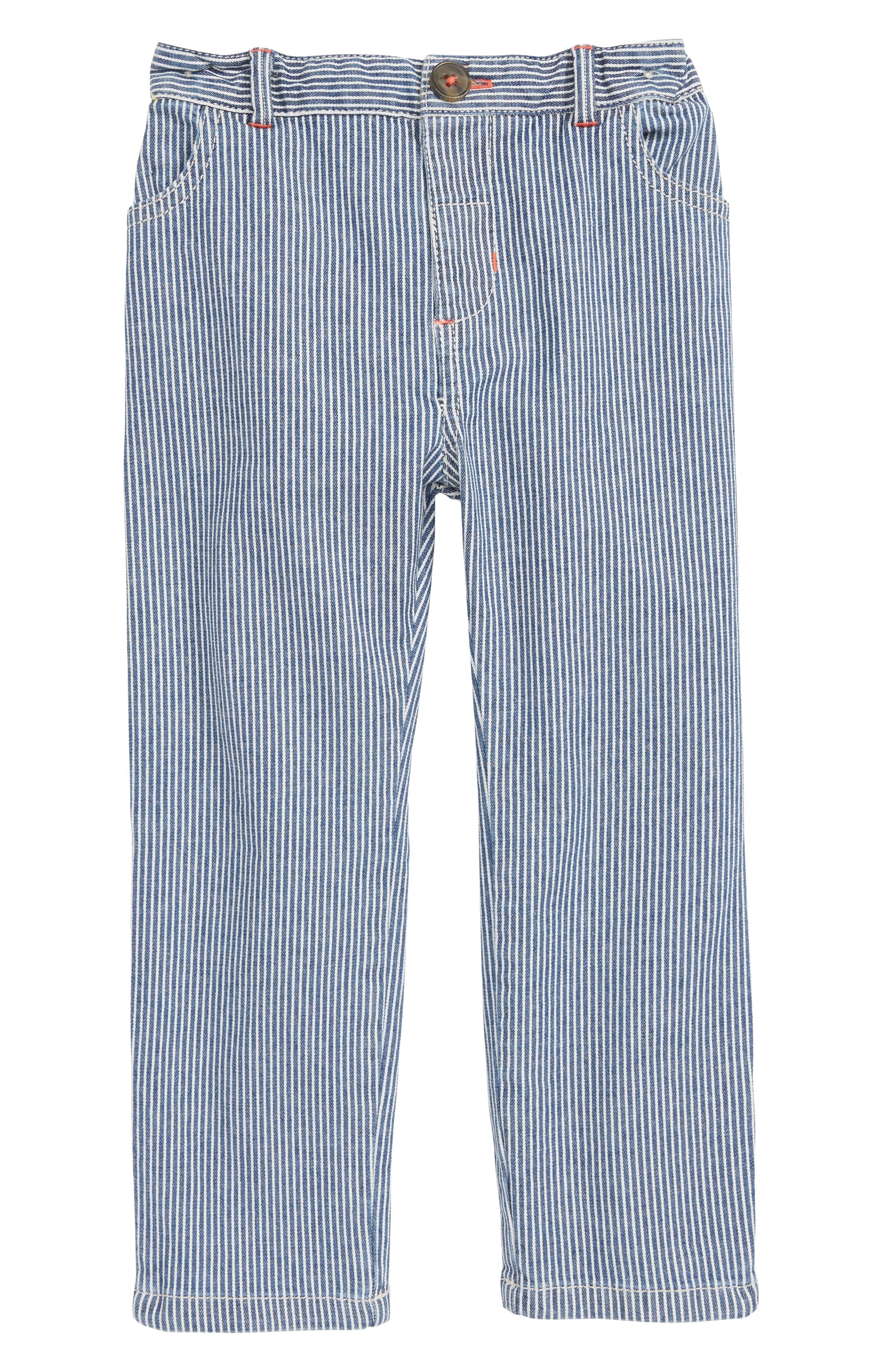Toddler Boys Mini Boden Ticking Stripe Chino Pants
