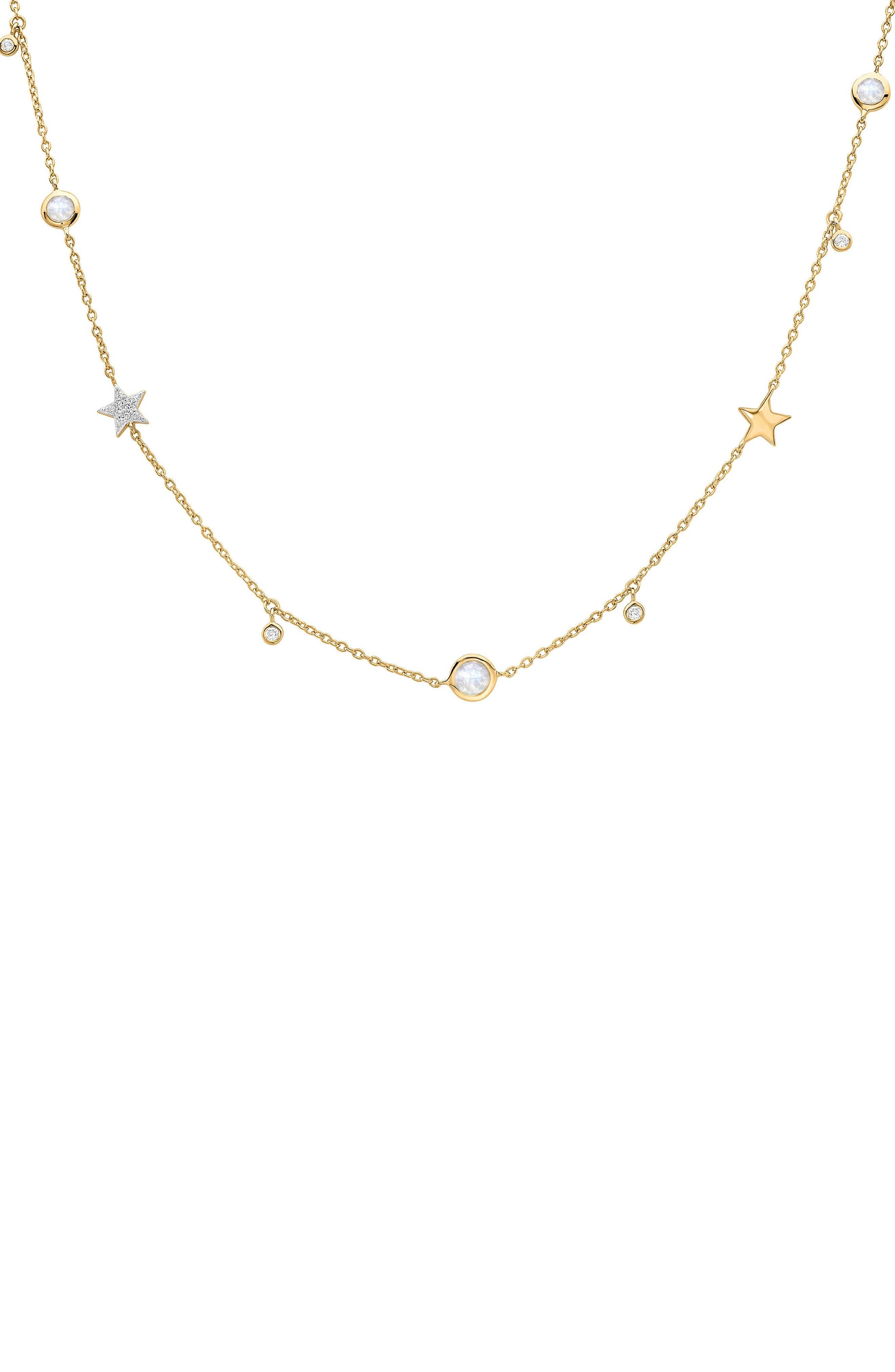 Interstellar Star Drop Necklace,                         Main,                         color, GOLD