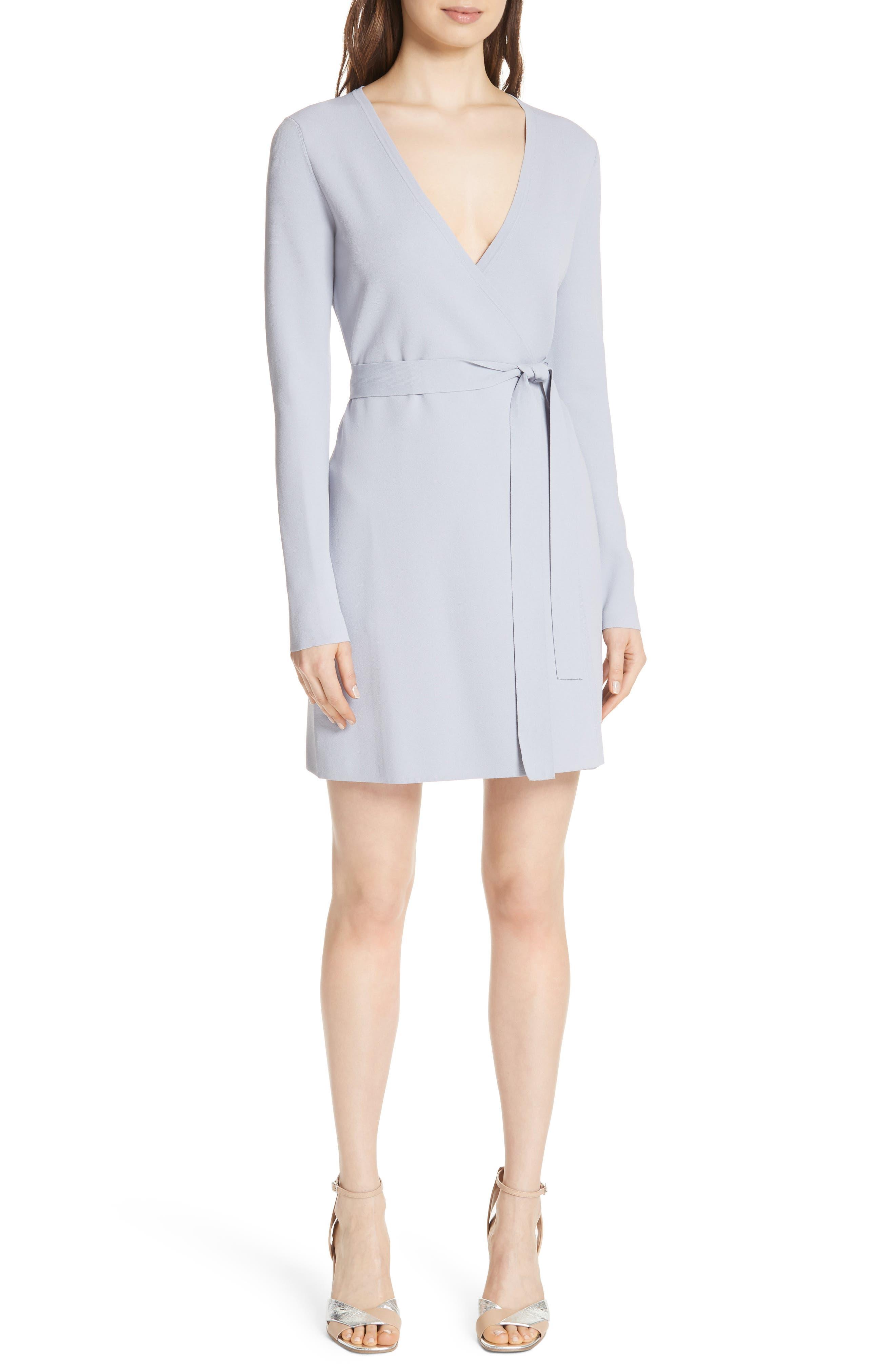 Diane von Furstenberg Knit Wrap Dress,                             Main thumbnail 1, color,                             031