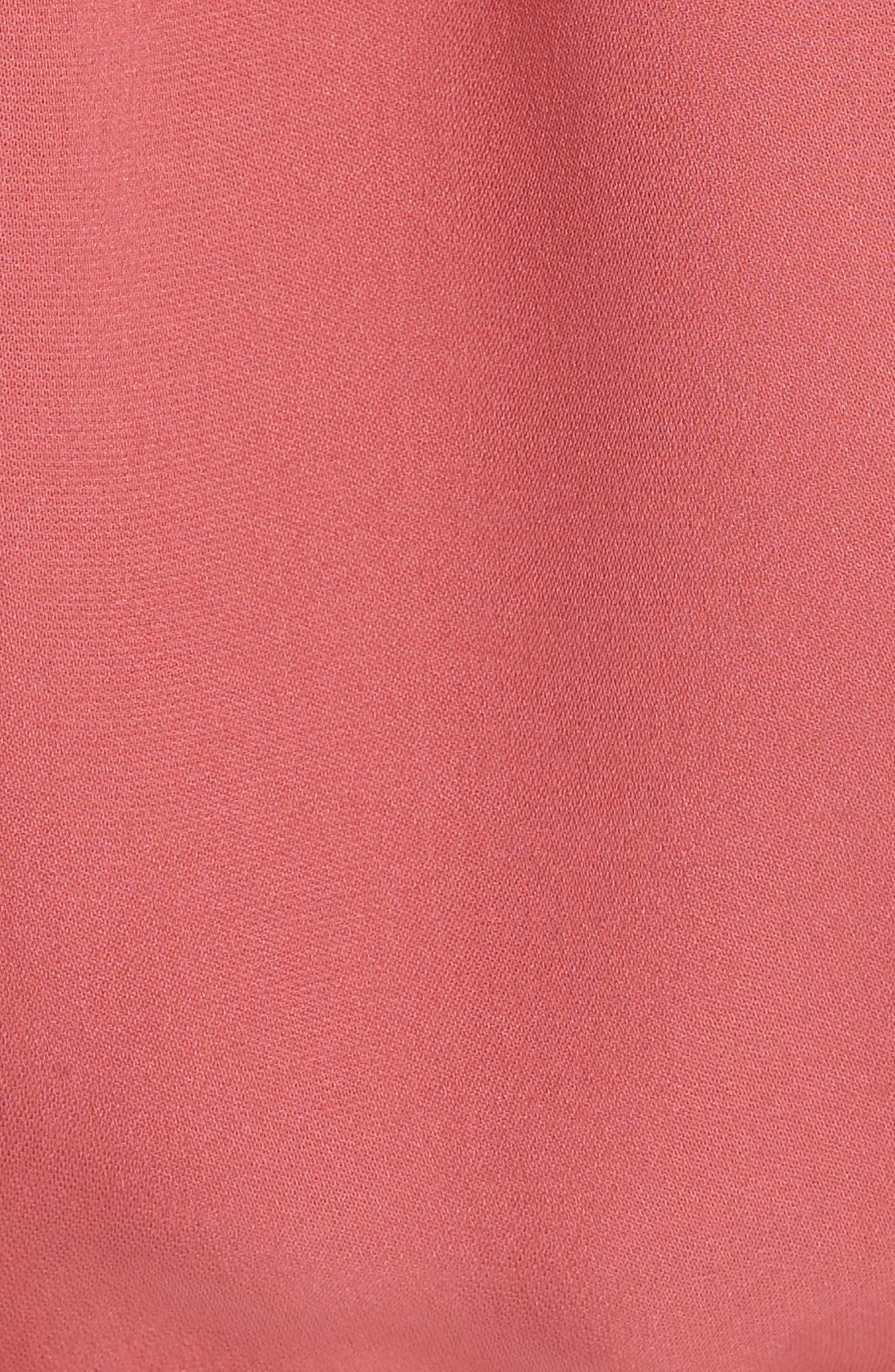 Blesina Tie Front Short Sleeve Silk Blouse,                             Alternate thumbnail 5, color,                             651
