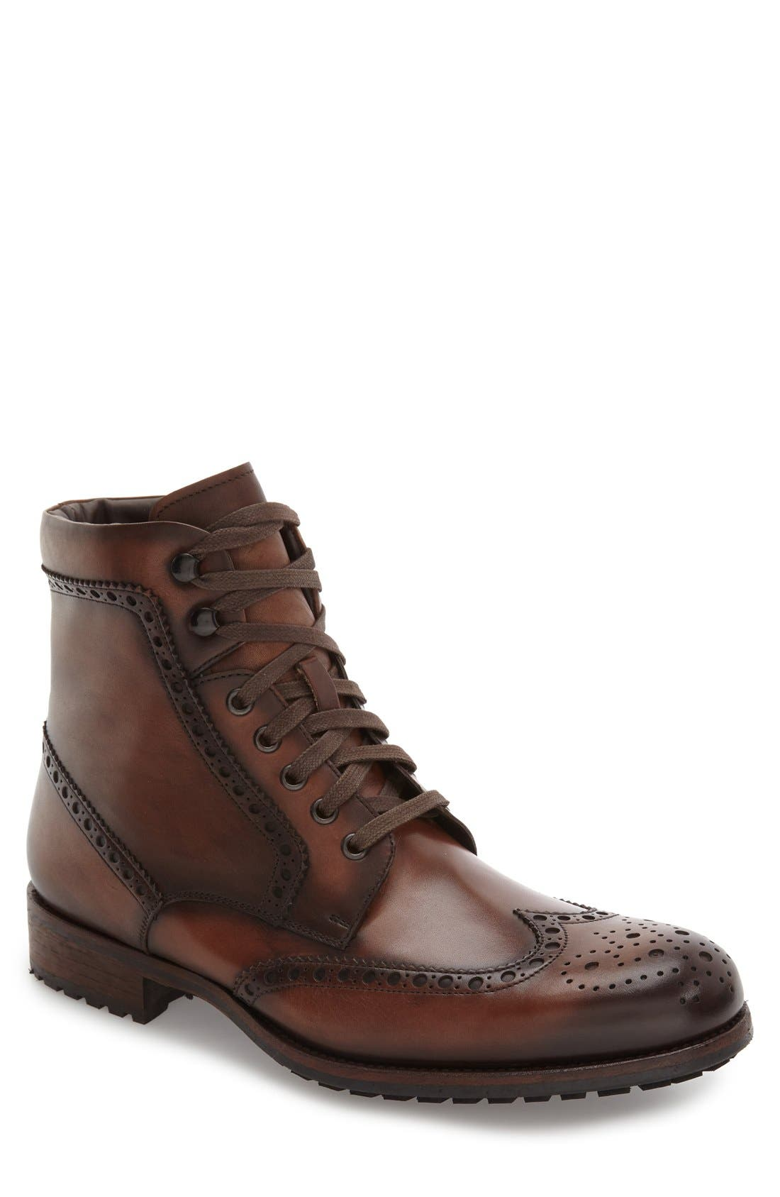 Maddox Wingtip Boot,                             Main thumbnail 3, color,