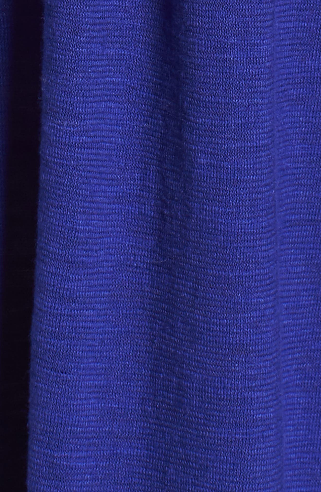 Scooped Neck Hemp & Cotton Midi Dress,                             Alternate thumbnail 6, color,                             BLUE VIOLET
