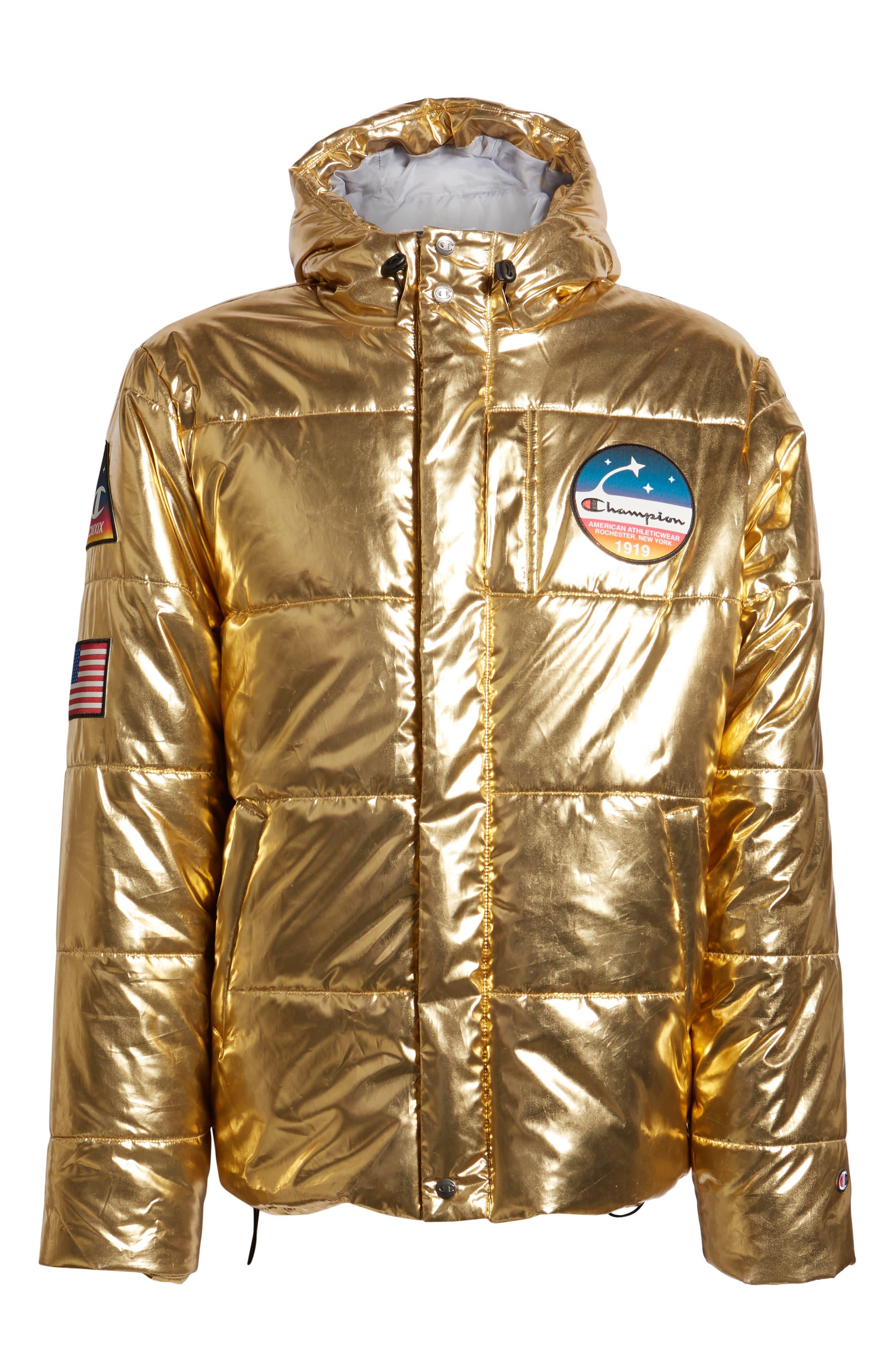 CHAMPION,                             Metallic Puffer Coat,                             Alternate thumbnail 6, color,                             718