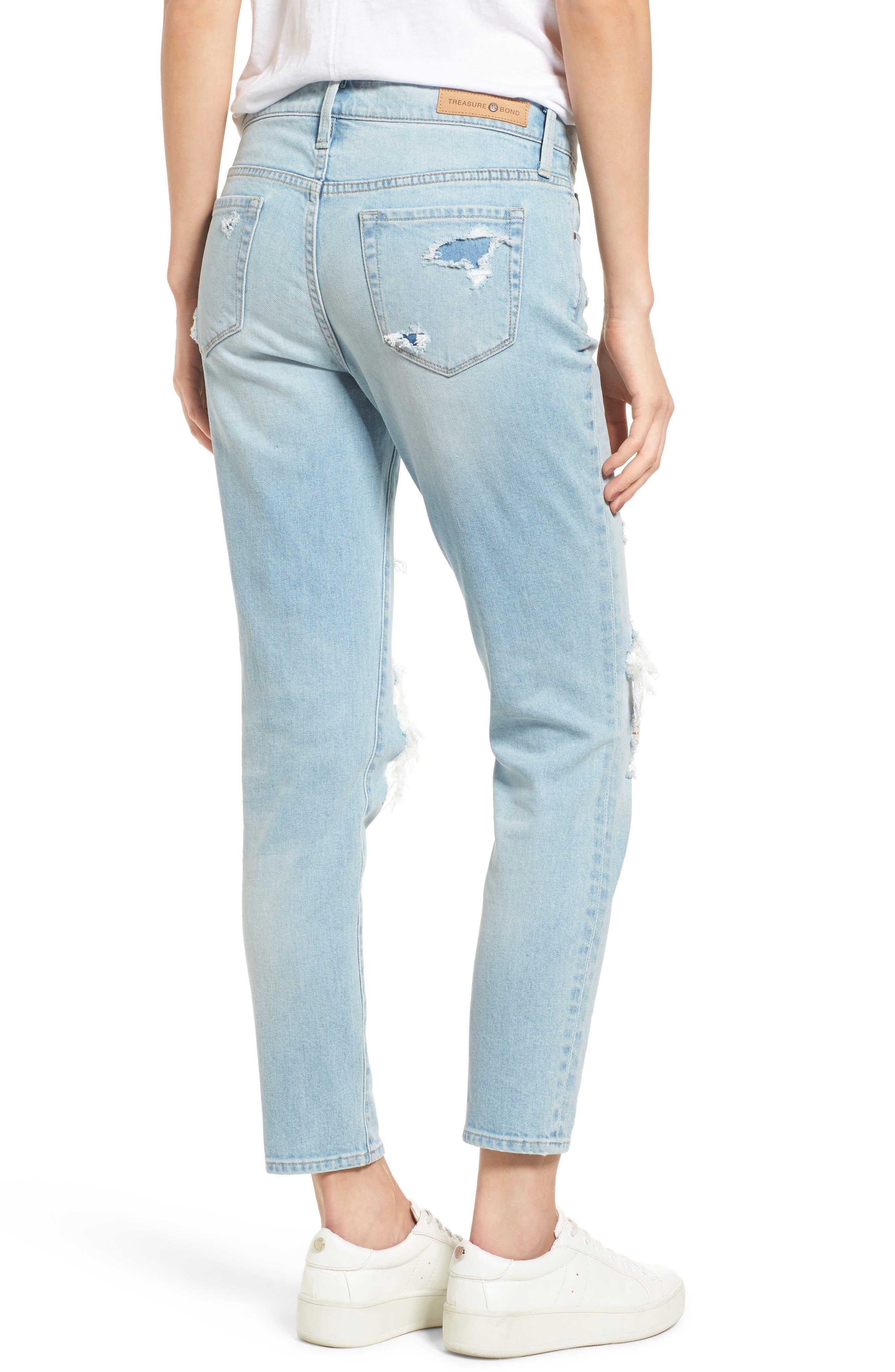 TREASURE & BOND,                             Skinny Boyfriend Jeans,                             Alternate thumbnail 2, color,                             400