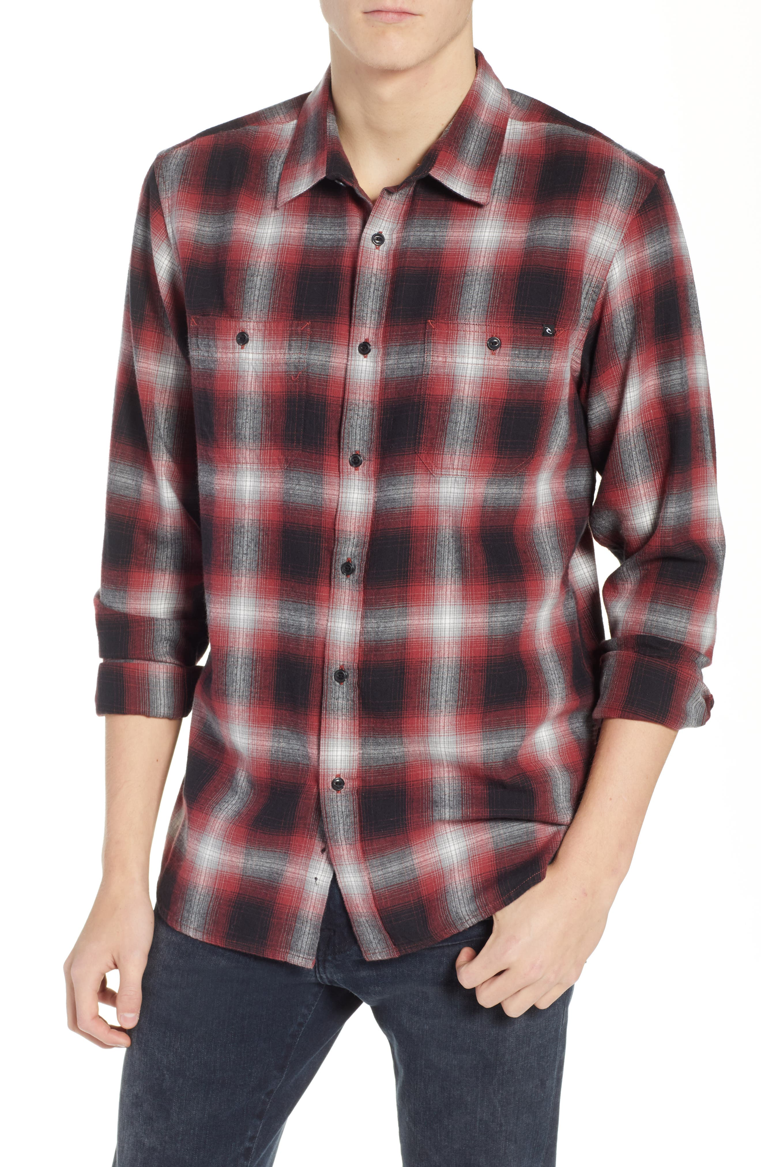 Rip Curl Avilan Flannel Shirt, Red