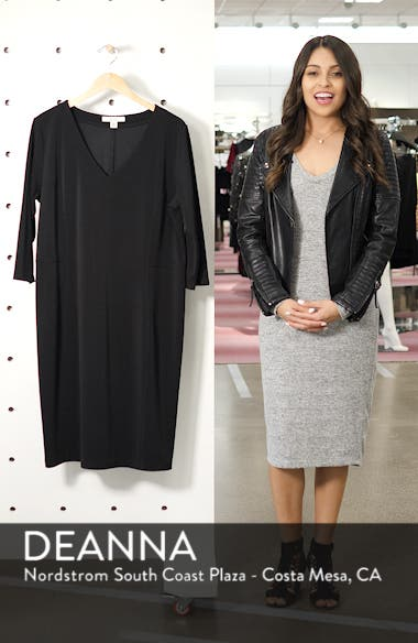 Seamed Crepe Dress, sales video thumbnail