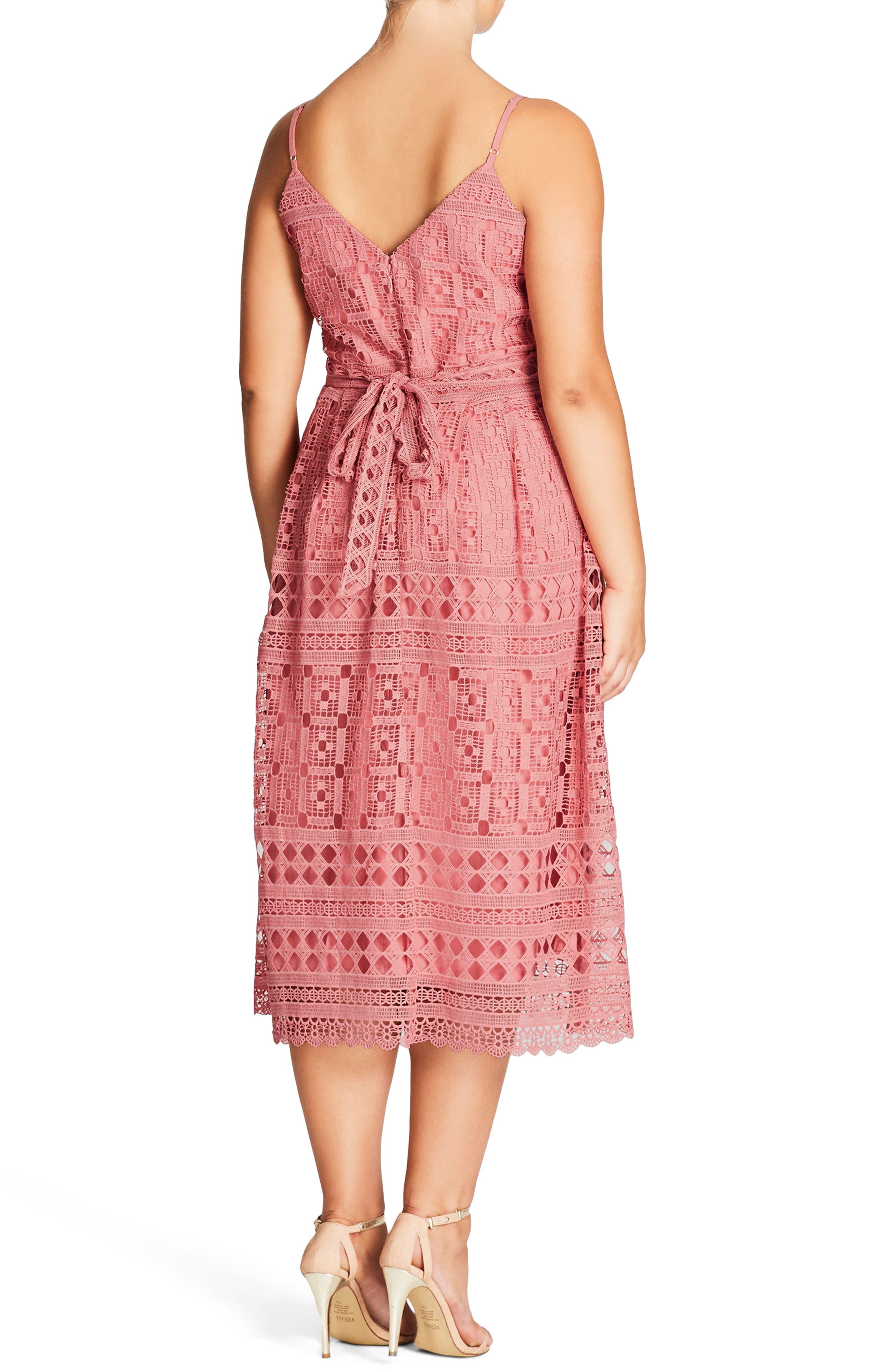 Sublime Lace Midi Dress,                             Alternate thumbnail 4, color,