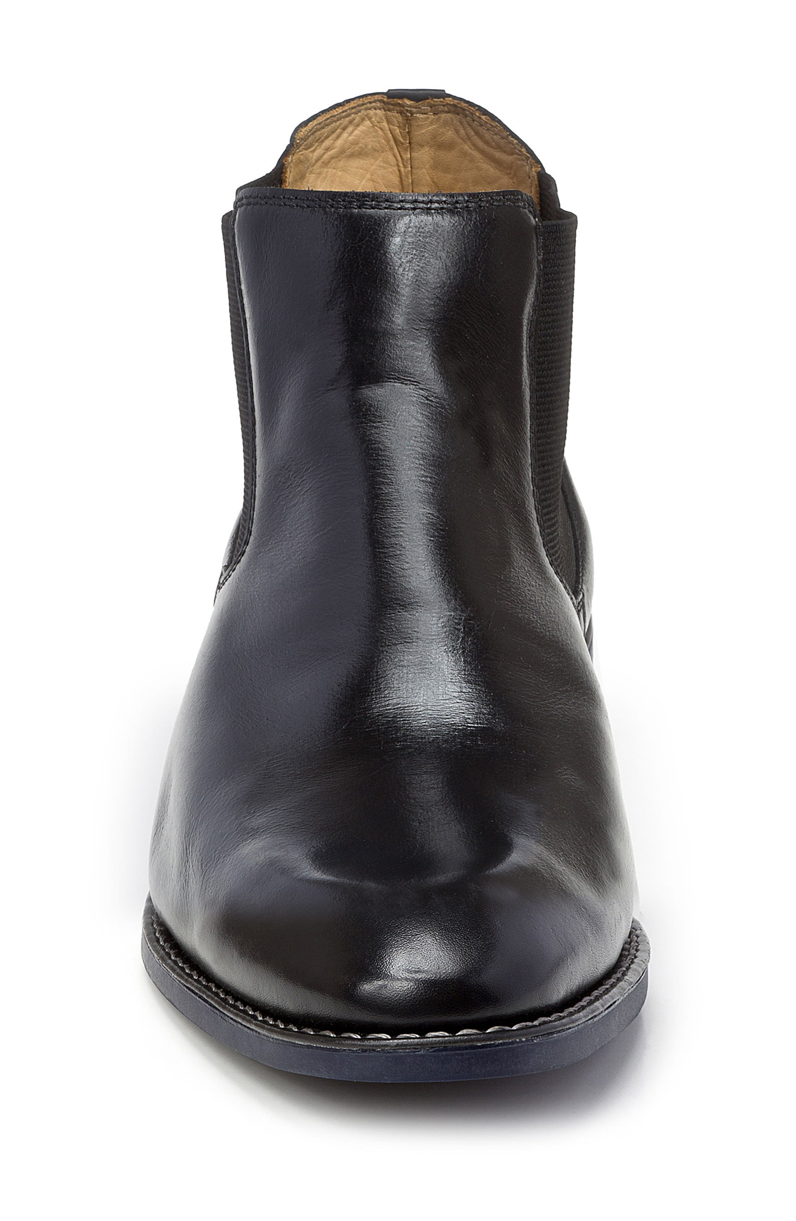Marcus Chelsea Boot,                             Alternate thumbnail 4, color,                             BLACK LEATHER