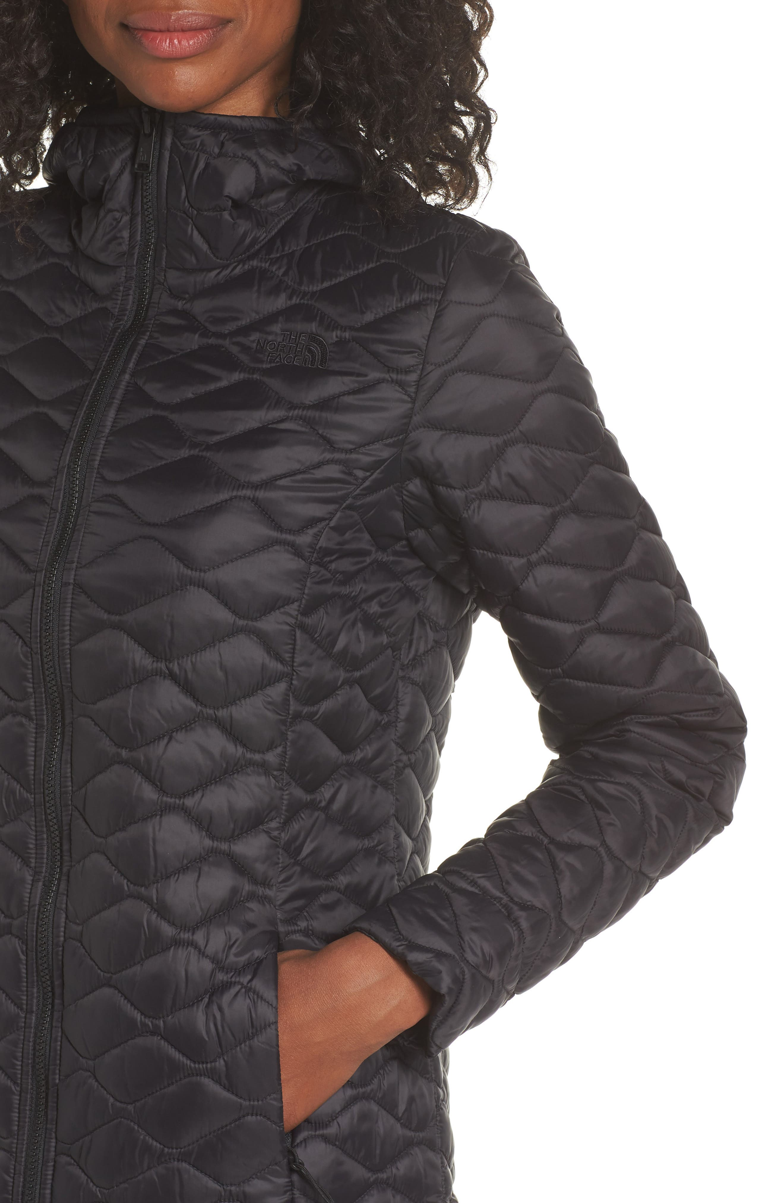 ThermoBall<sup>™</sup> Insulated Hooded Parka II,                             Alternate thumbnail 4, color,                             TNF BLACK