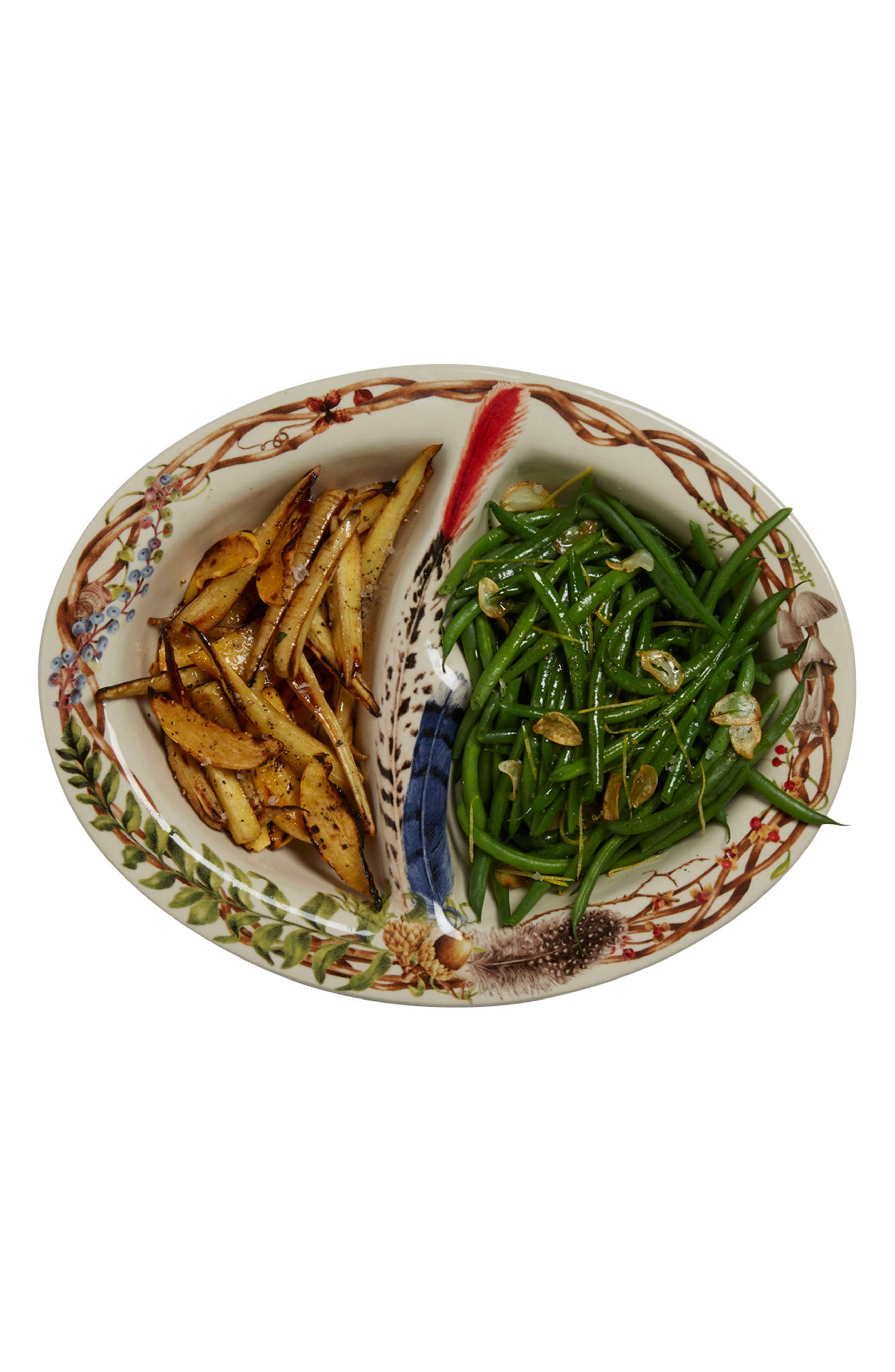 Forest Walk Ceramic Divided Bowl,                             Alternate thumbnail 2, color,                             250