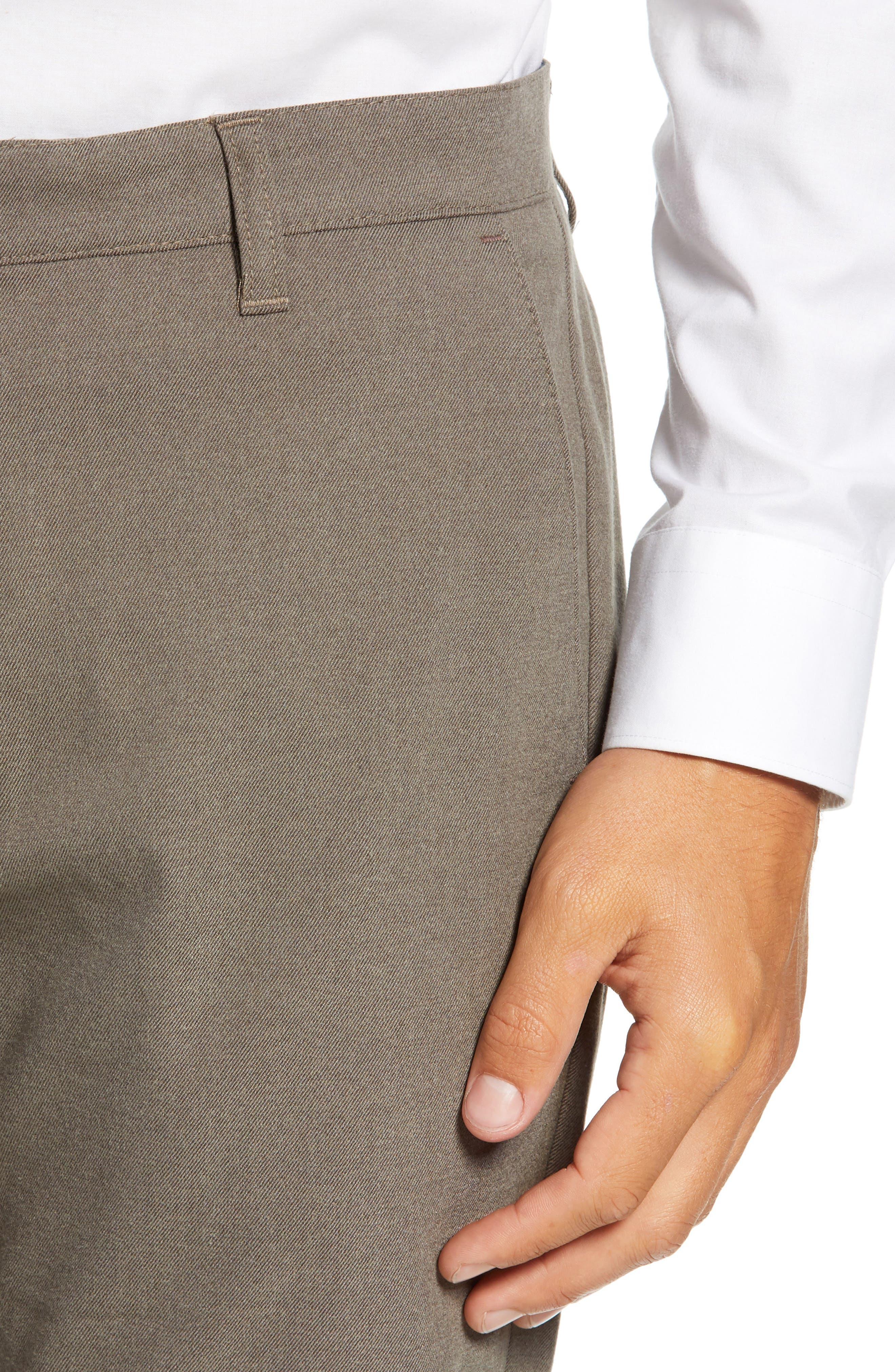 Semplin Slim Fit Brushed Trousers,                             Alternate thumbnail 4, color,                             NATURAL