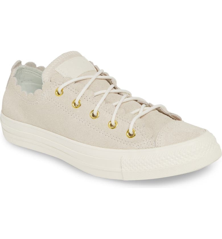 Converse Chuck Taylor® All Star® Scallop Low Top Leather Sneaker ... 852715993