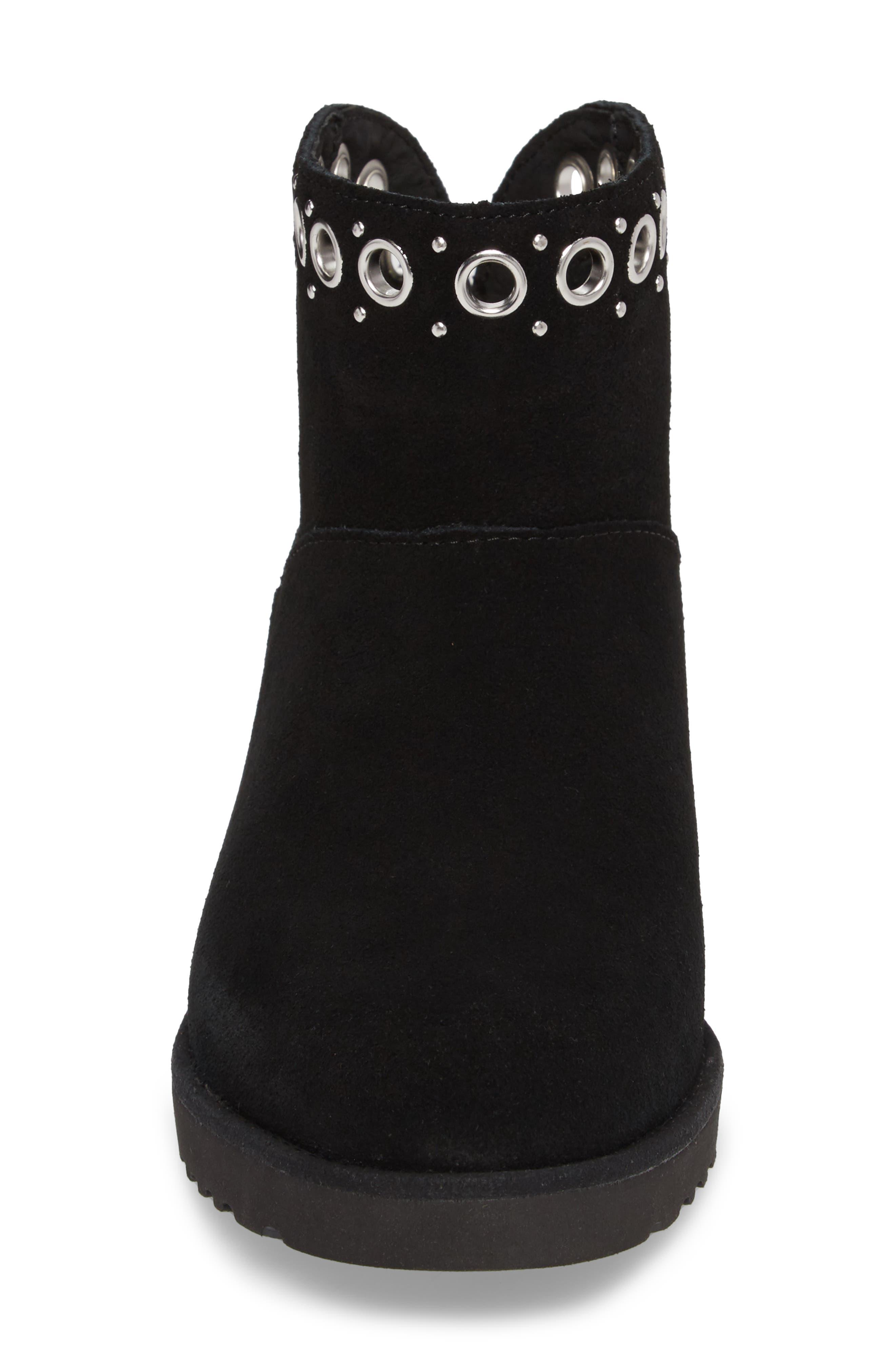 Riley Grommet Wedge Boot,                             Alternate thumbnail 10, color,