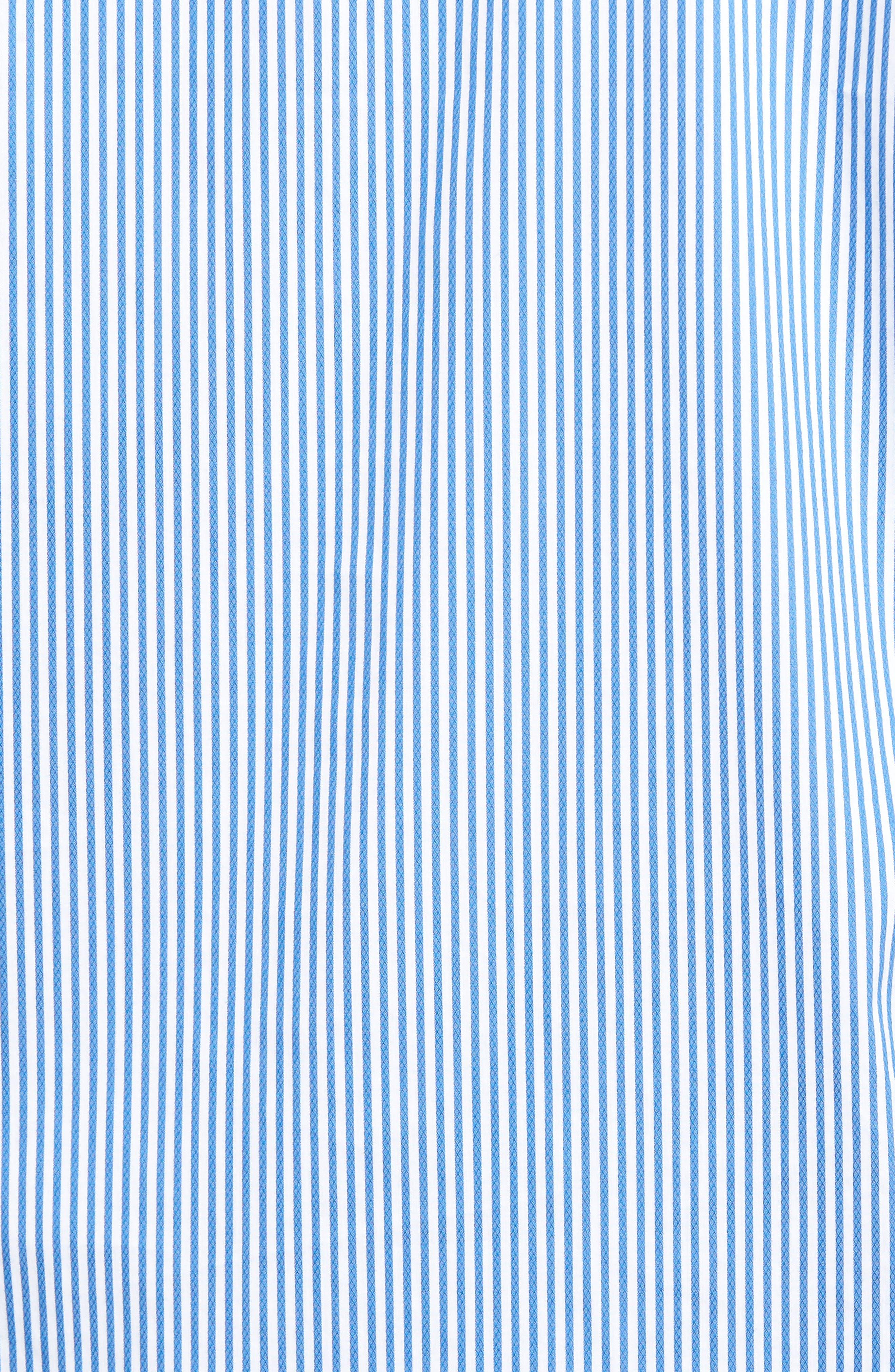 Technical Stripe Sport Shirt,                             Alternate thumbnail 5, color,                             402