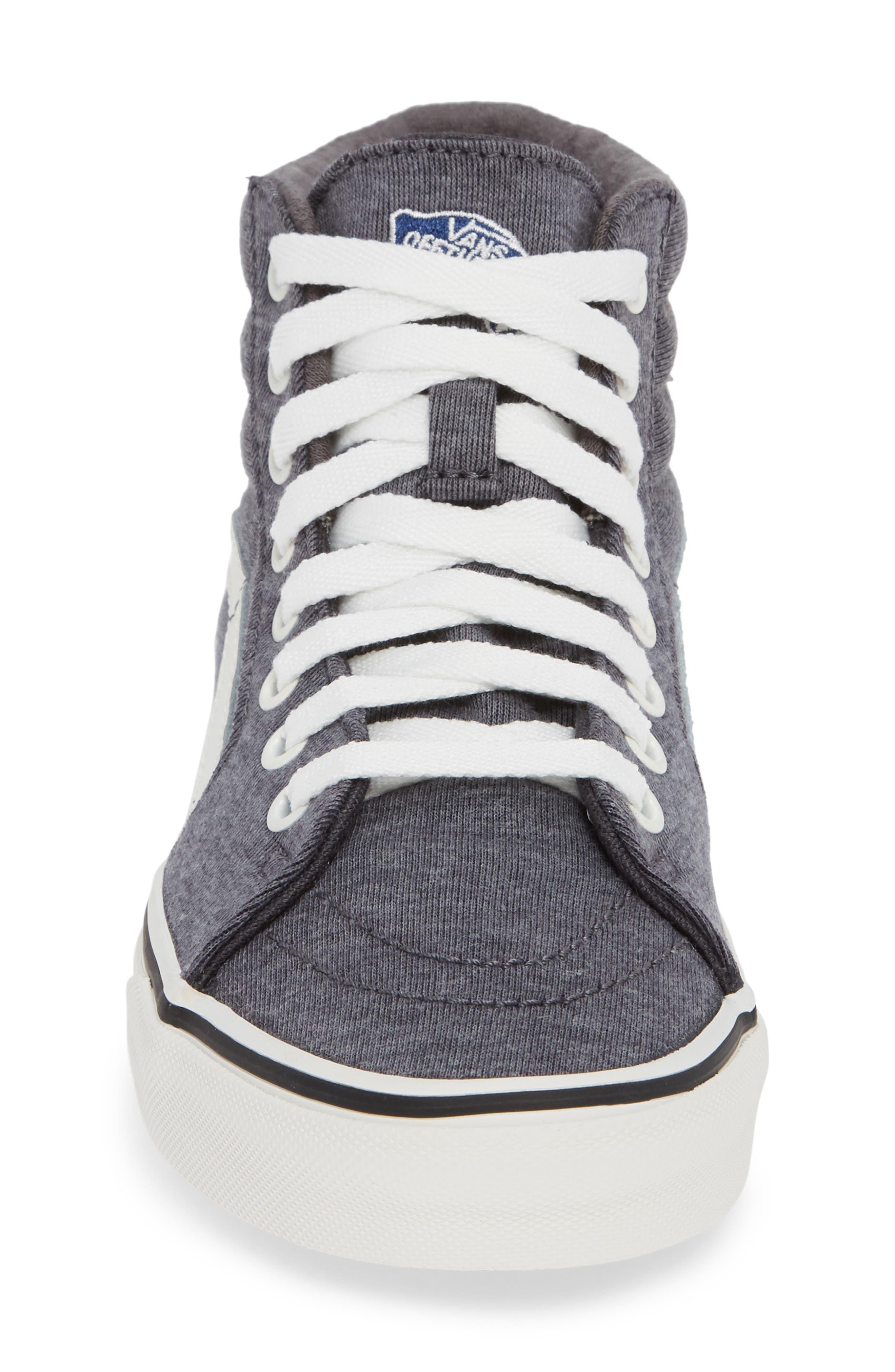 'Sk8-Hi' Sneaker,                             Alternate thumbnail 4, color,                             GREY/ SNOW WHITE