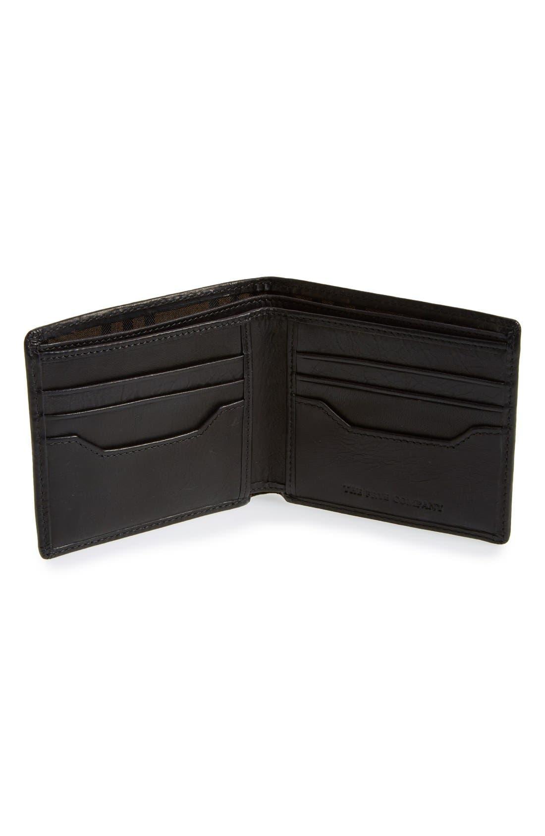 'Logan' Leather Billfold Wallet,                             Alternate thumbnail 9, color,