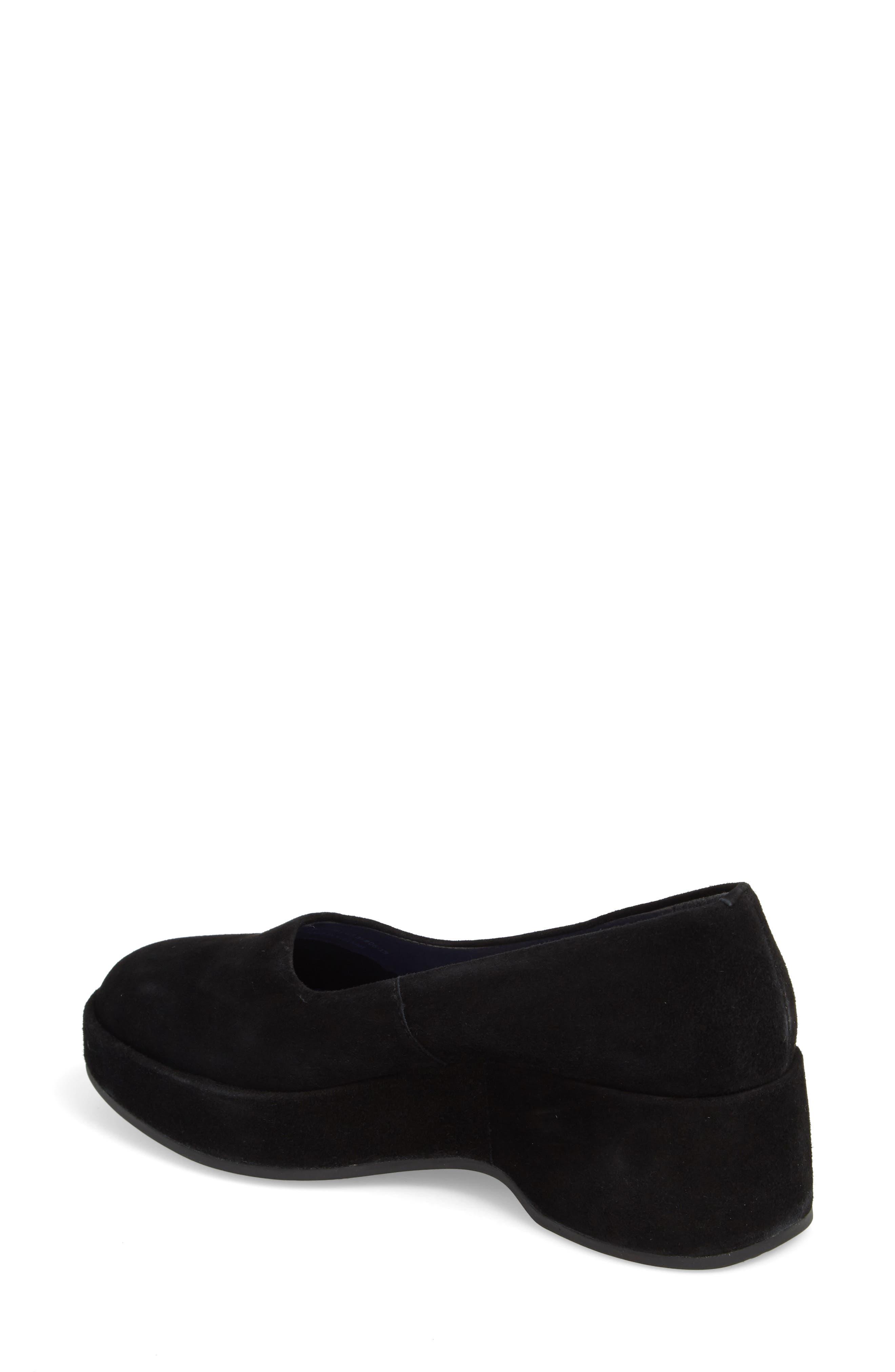 Sisea Platform Shoe,                             Alternate thumbnail 2, color,                             BLACK LEATHER