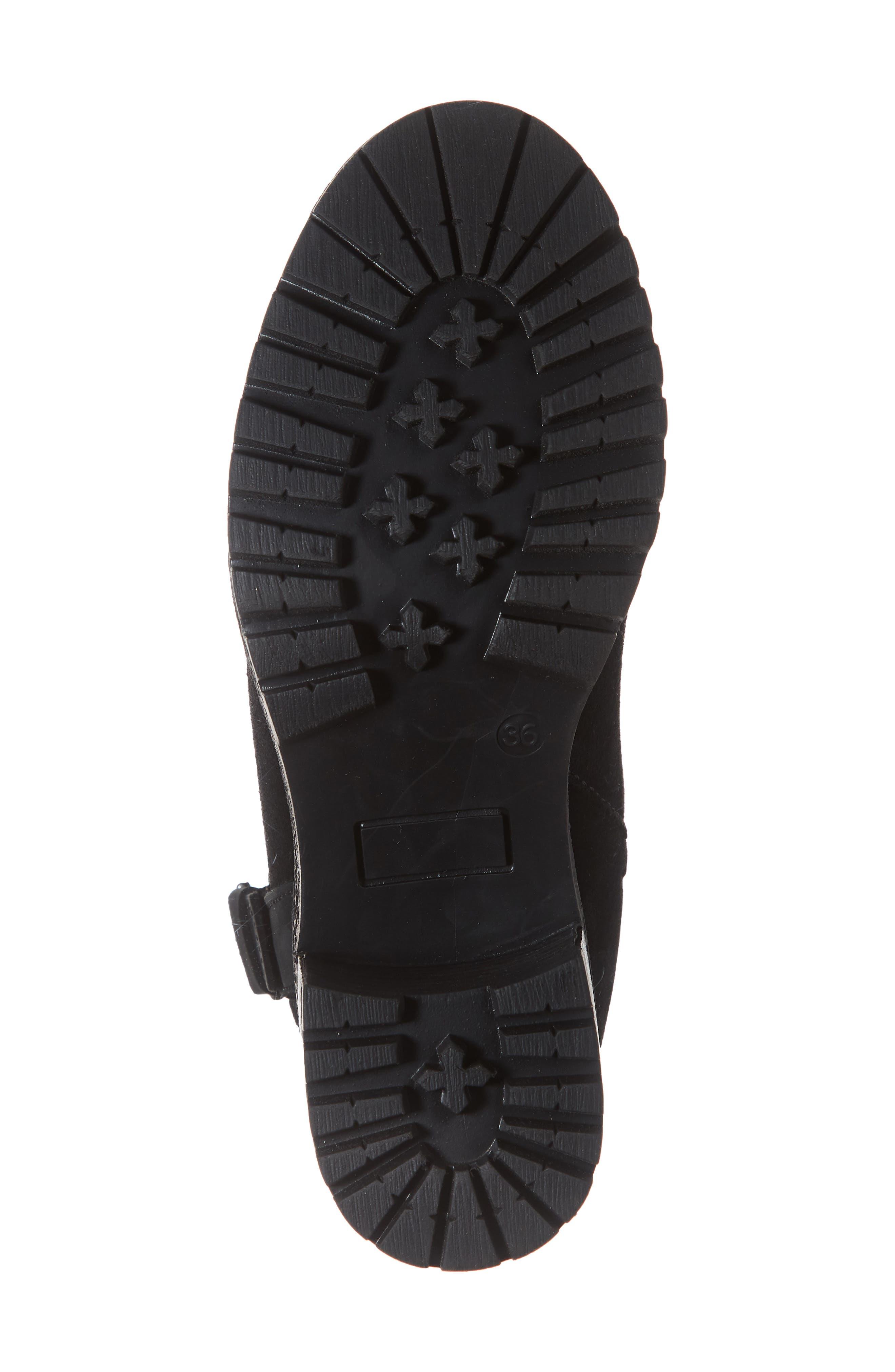 Major Waterproof Boot,                             Alternate thumbnail 6, color,                             BLACK SUEDE