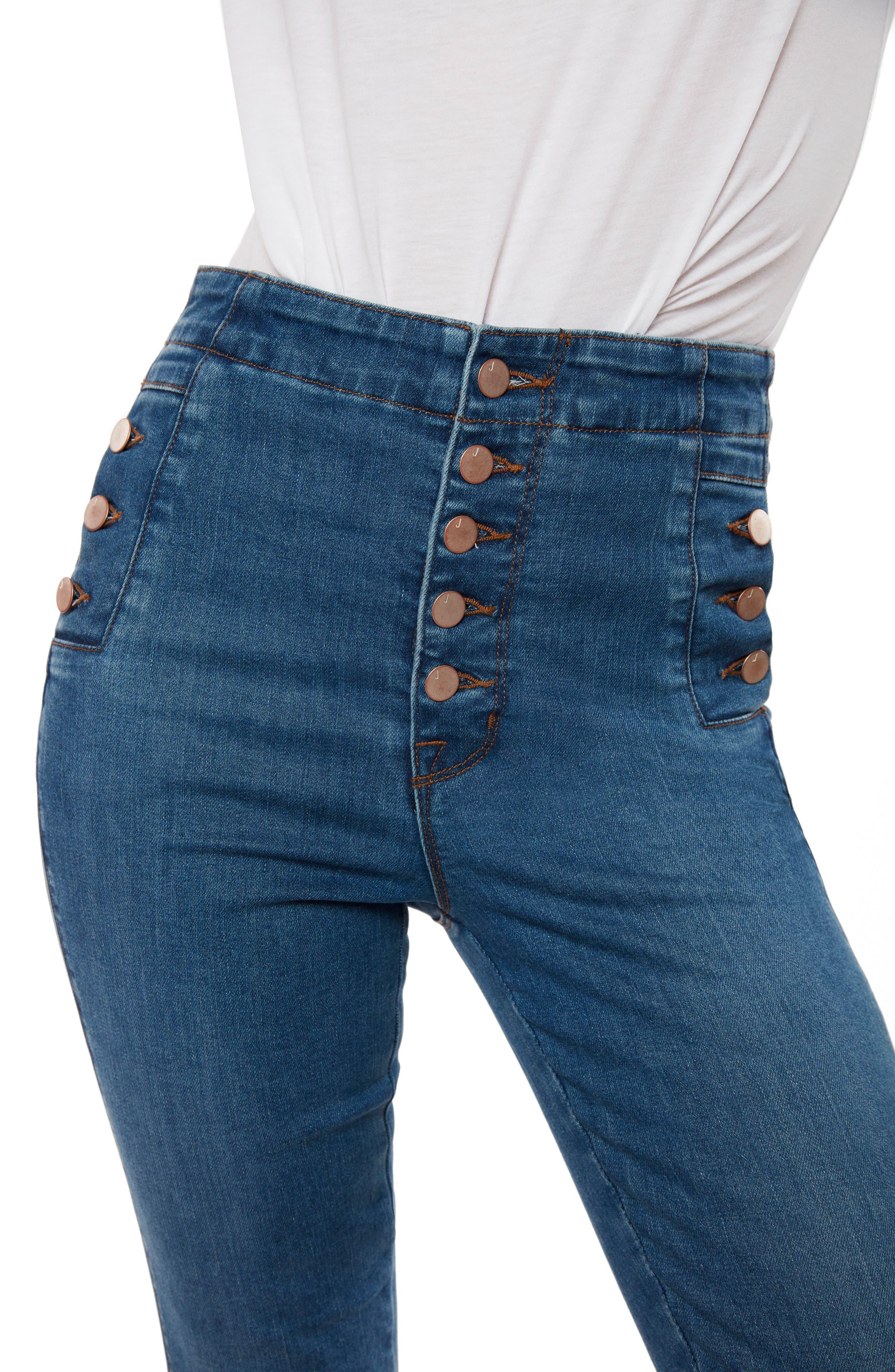 Natasha Sky High High Waist Crop Skinny Jeans,                             Alternate thumbnail 4, color,                             LOVESICK
