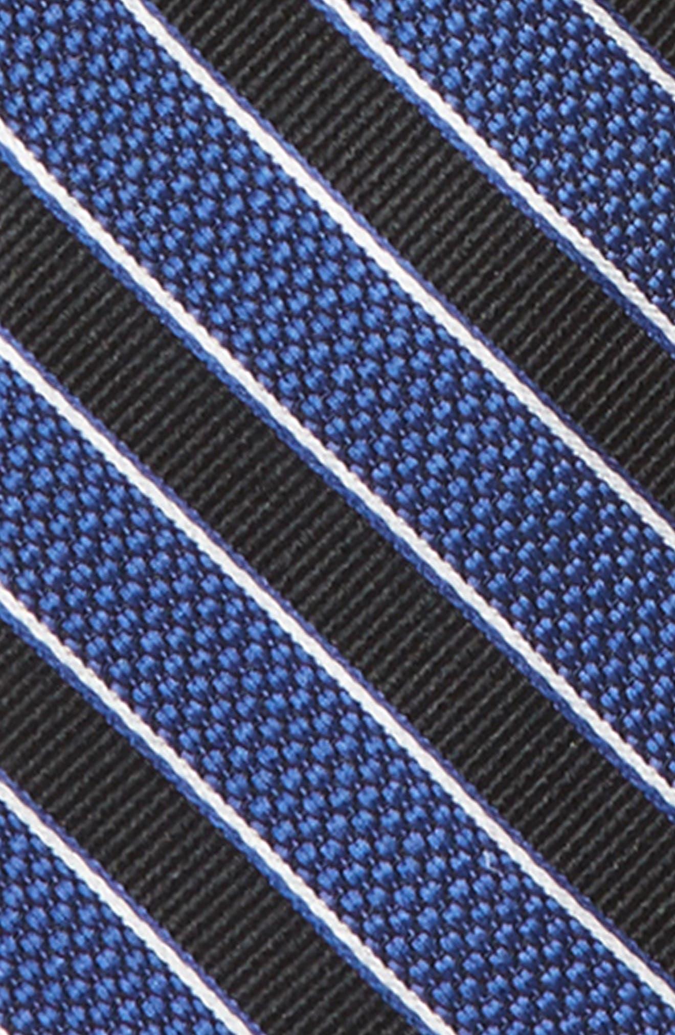 Stripe Silk Zip Tie,                             Alternate thumbnail 2, color,                             001