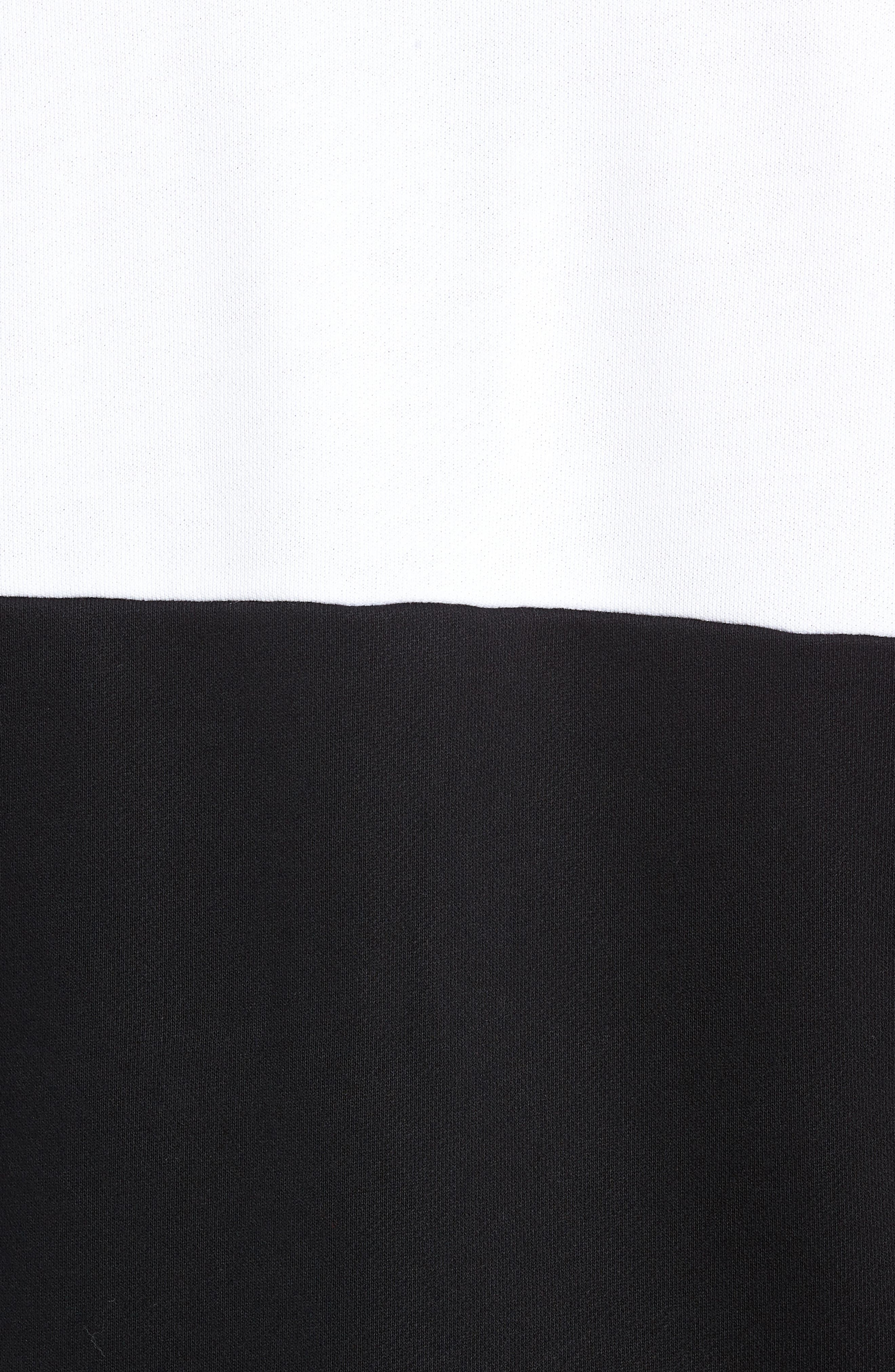 Libe Core Colorblock Sweatshirt,                             Alternate thumbnail 5, color,                             001
