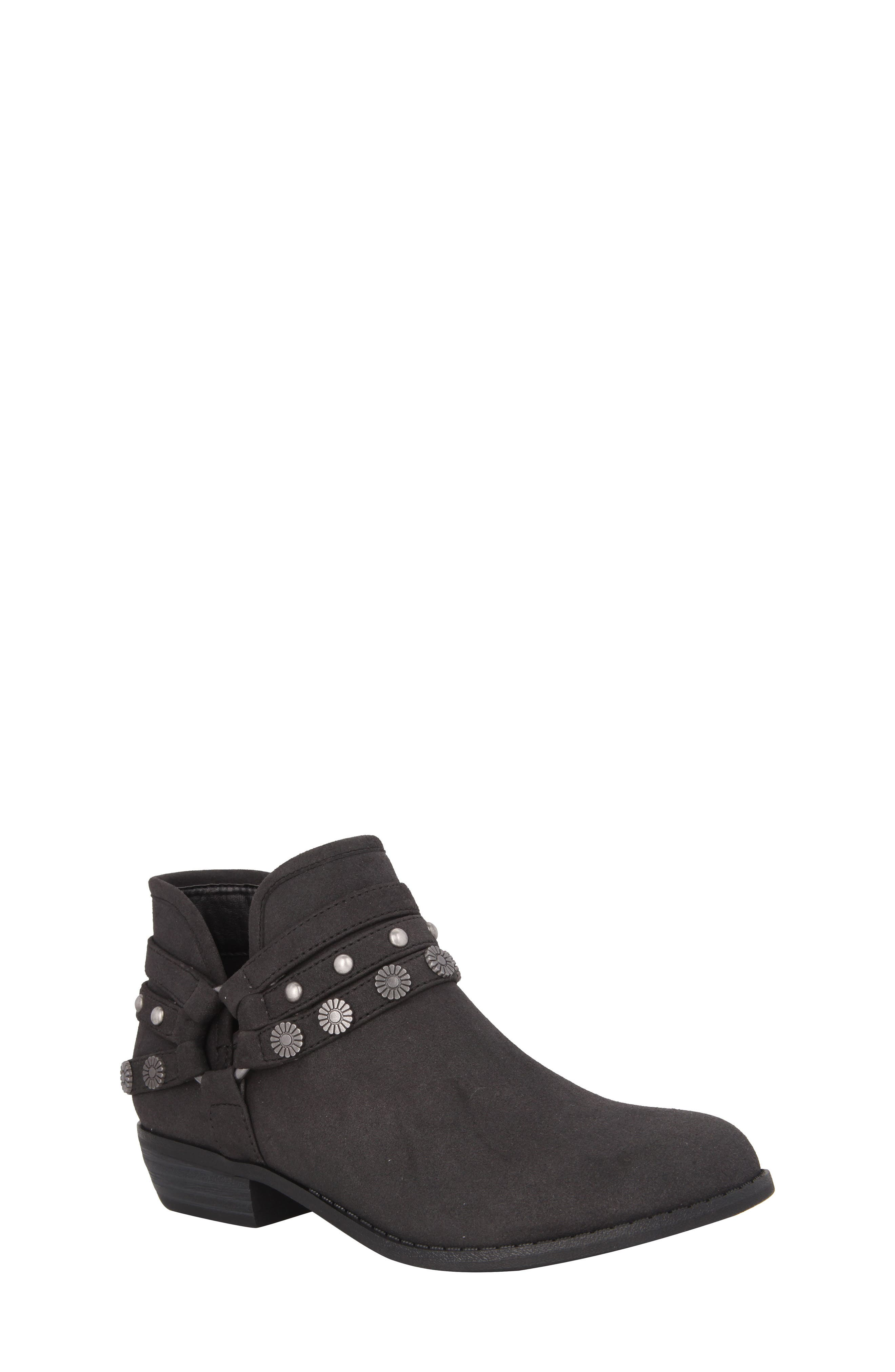 Zoe Strappy Low Bootie,                             Main thumbnail 1, color,                             003