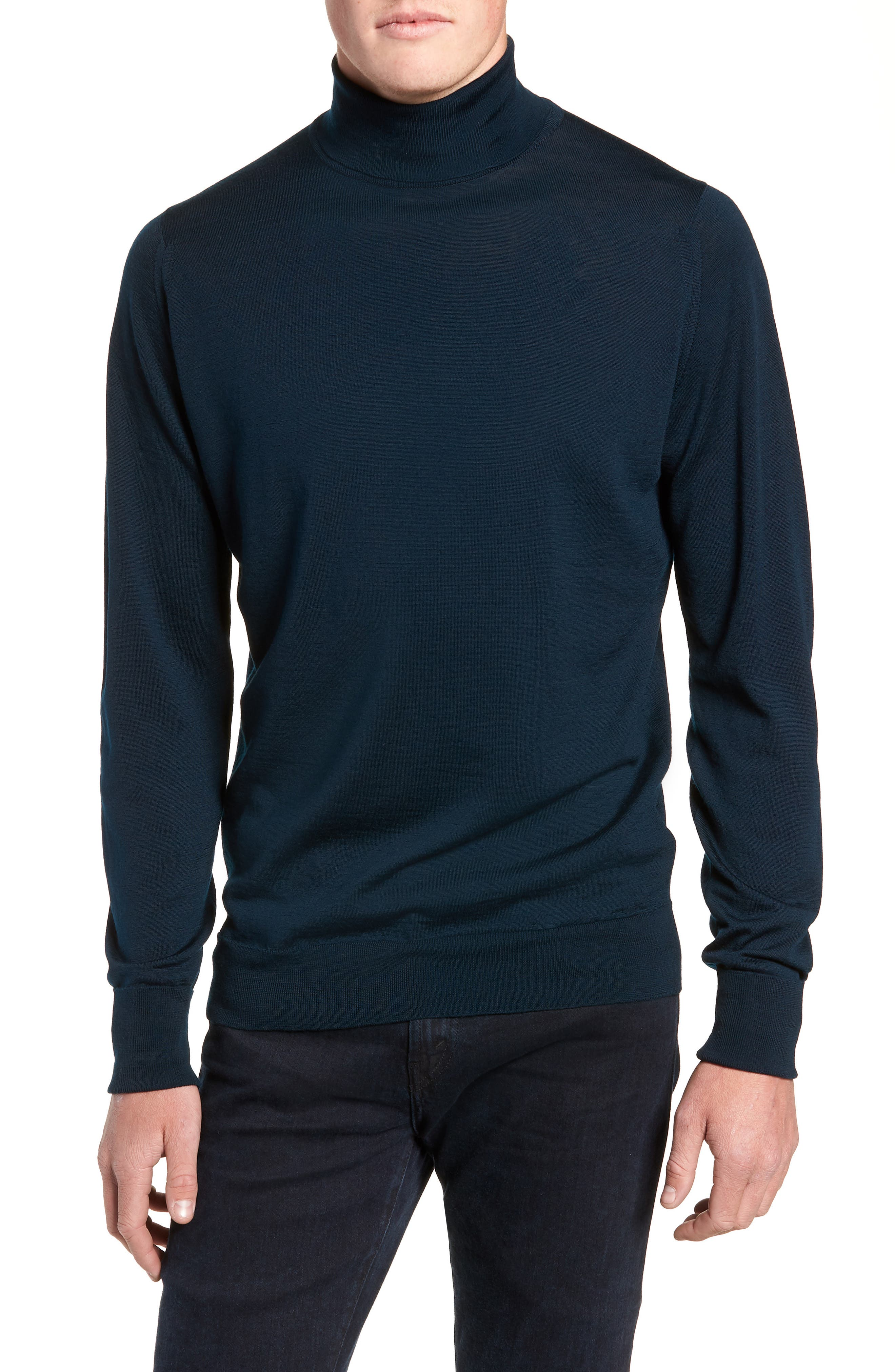 'Richards' Easy Fit Turtleneck Wool Sweater,                             Main thumbnail 3, color,