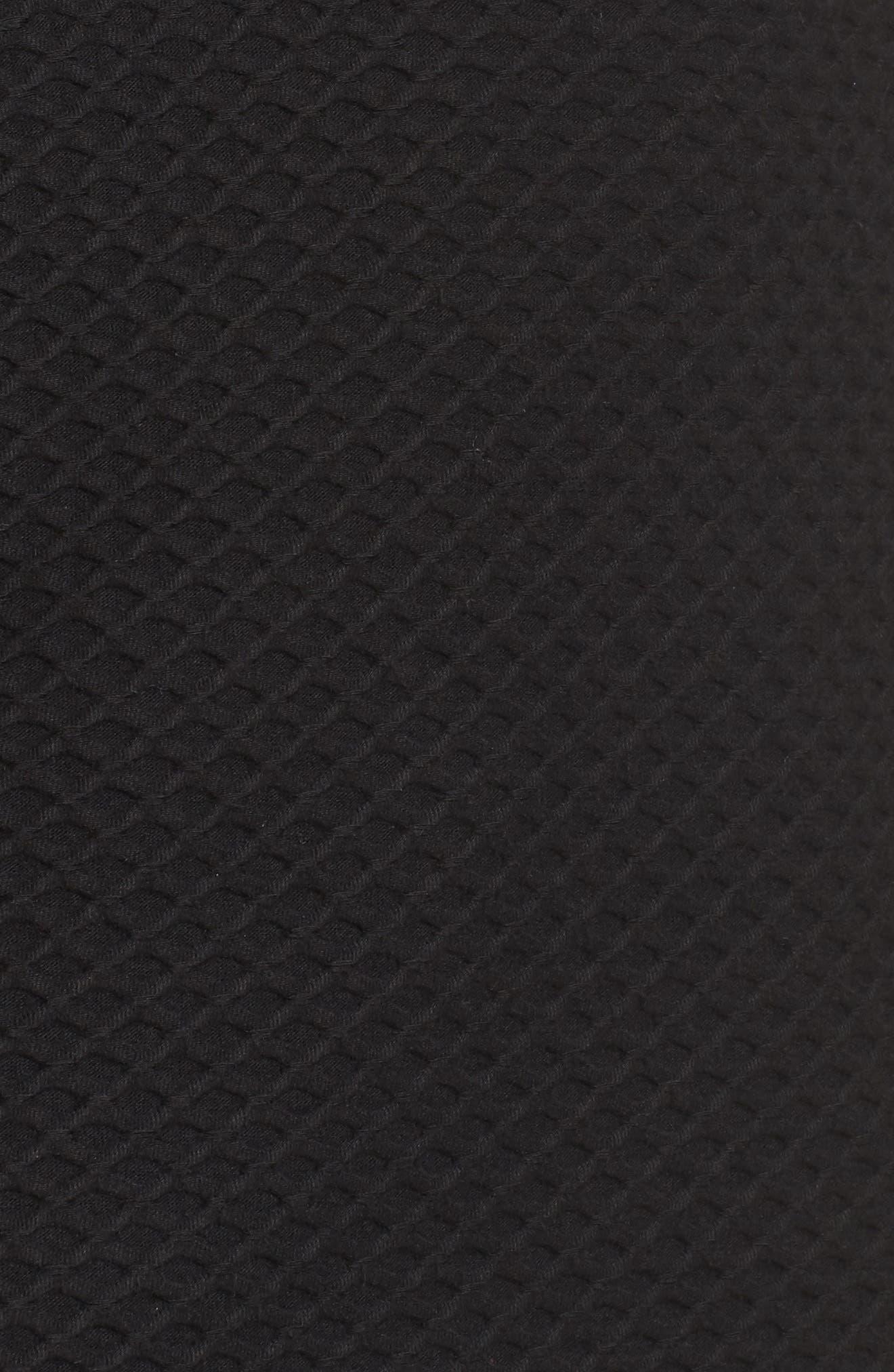 Dixie Fit & Flare Dress,                             Alternate thumbnail 5, color,                             BLACK