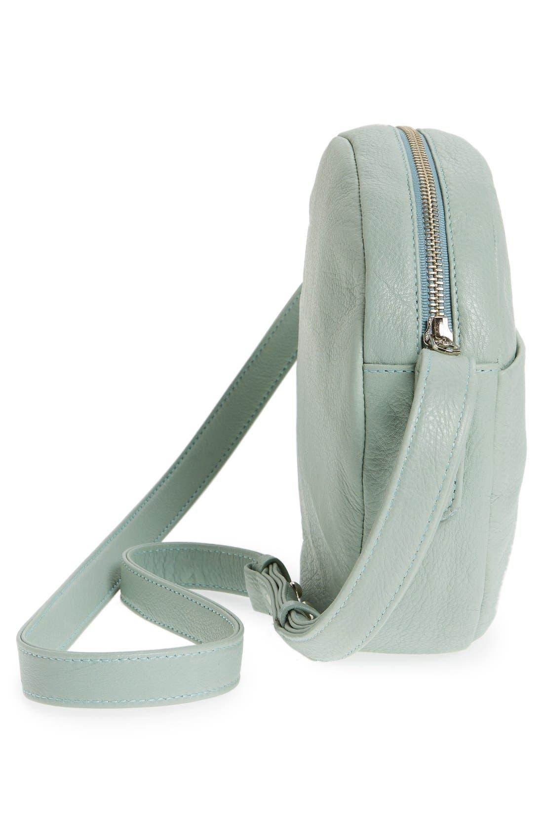 Pebbled Leather Crossbody Bag,                             Alternate thumbnail 21, color,