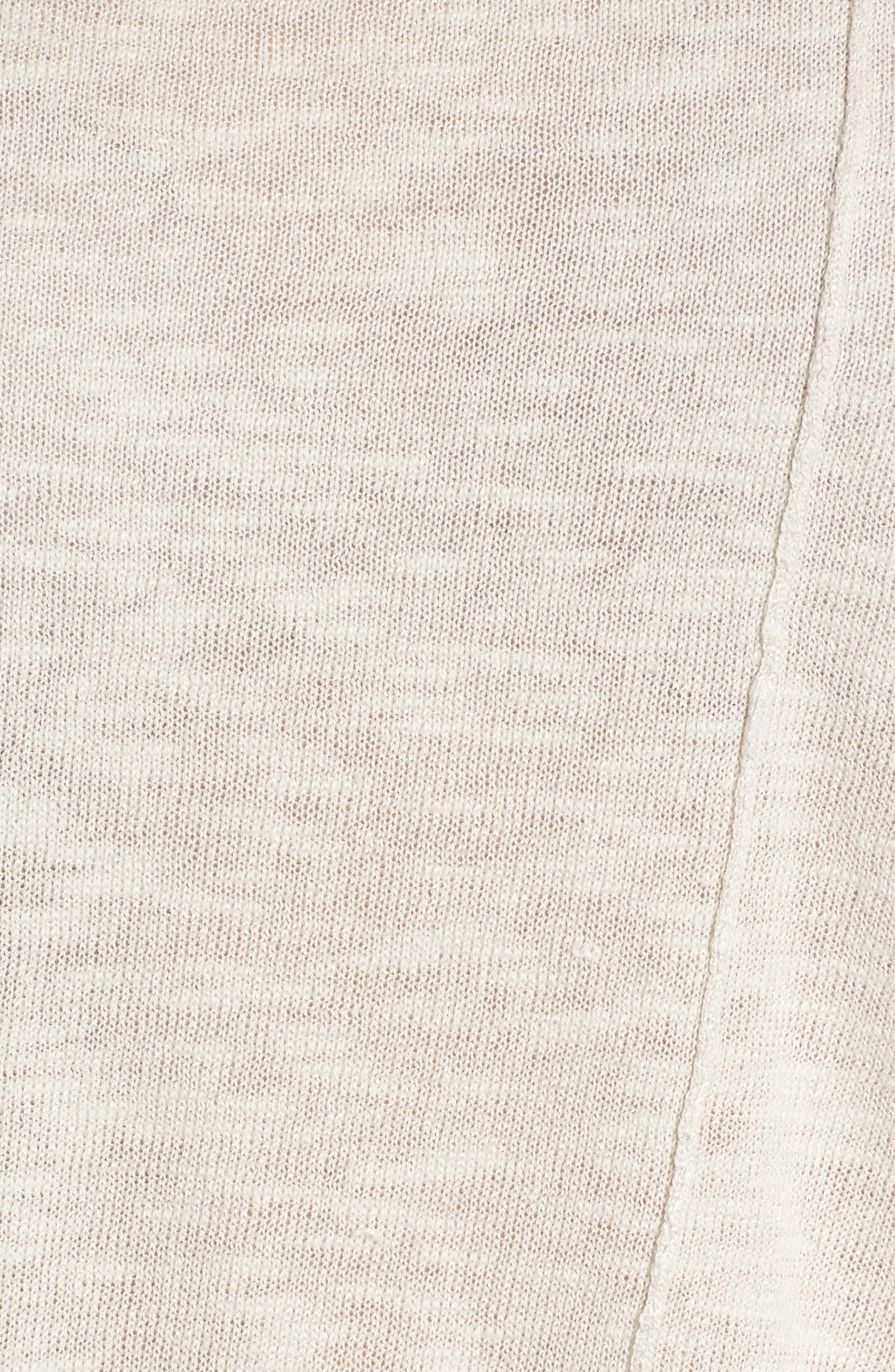 Cap Sleeve Organic Linen & Cotton Scoop Neck Top,                             Alternate thumbnail 65, color,