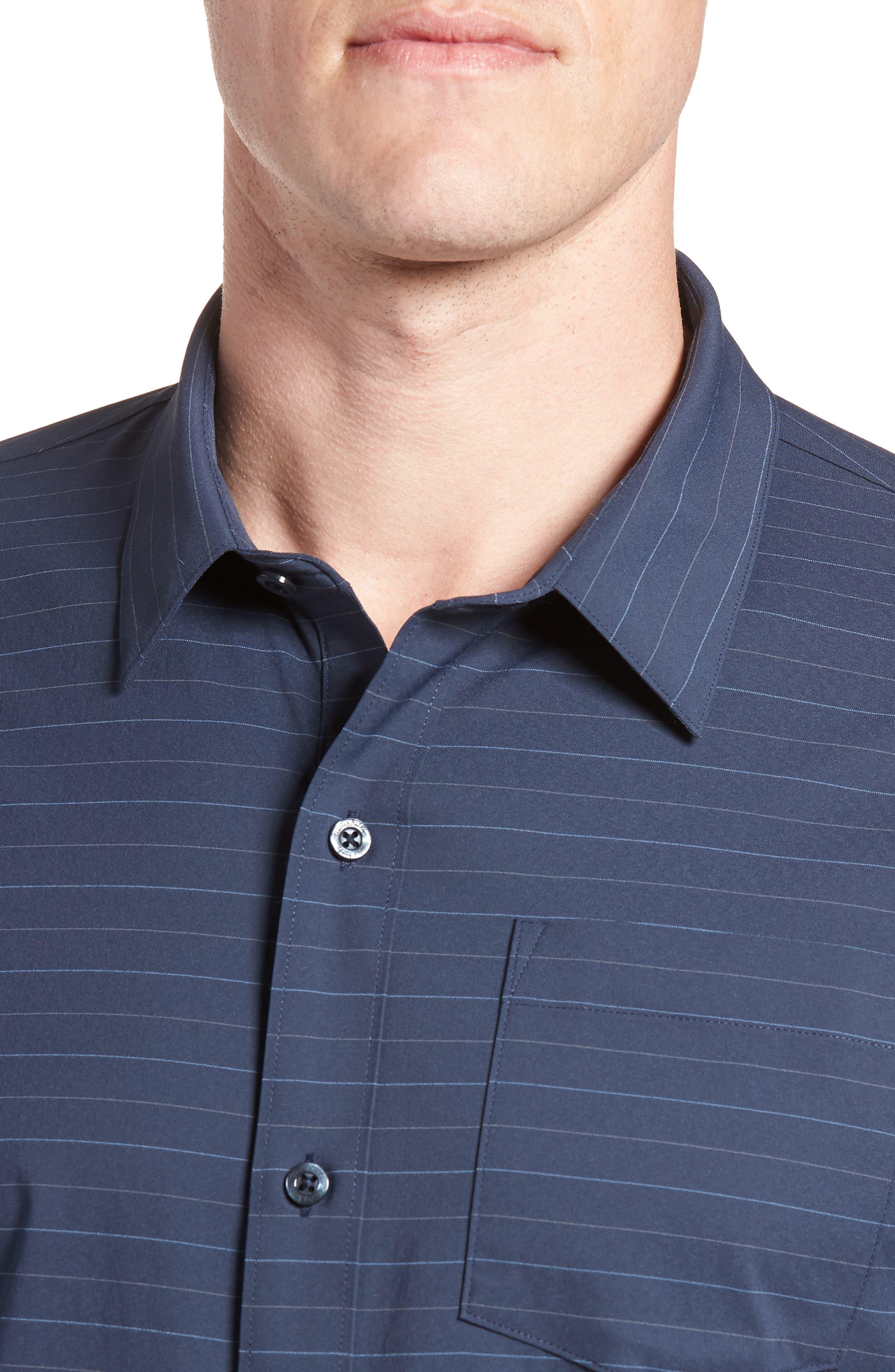 Vagabond Regular Fit Sport Shirt,                             Alternate thumbnail 4, color,                             HEATHER BLUE NIGHTS