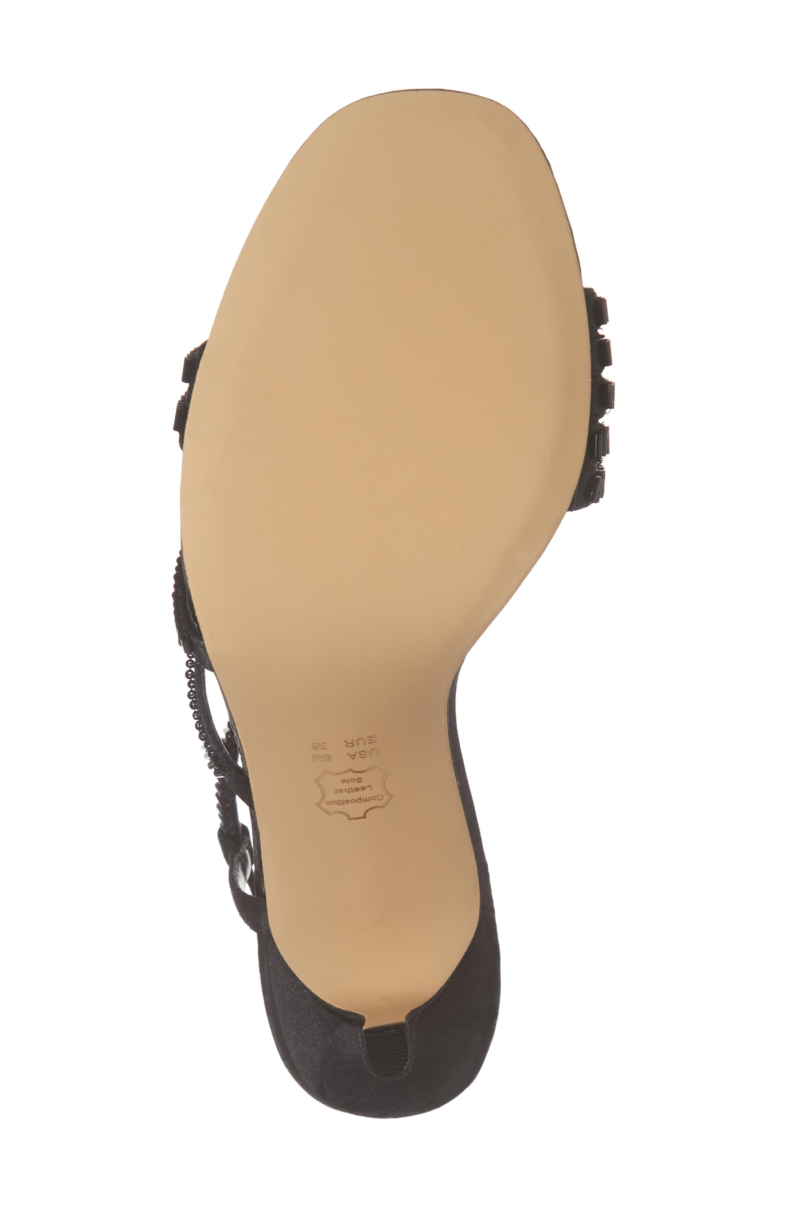 Amani Asymmetrical Strappy Slingback Sandal,                             Alternate thumbnail 6, color,                             003