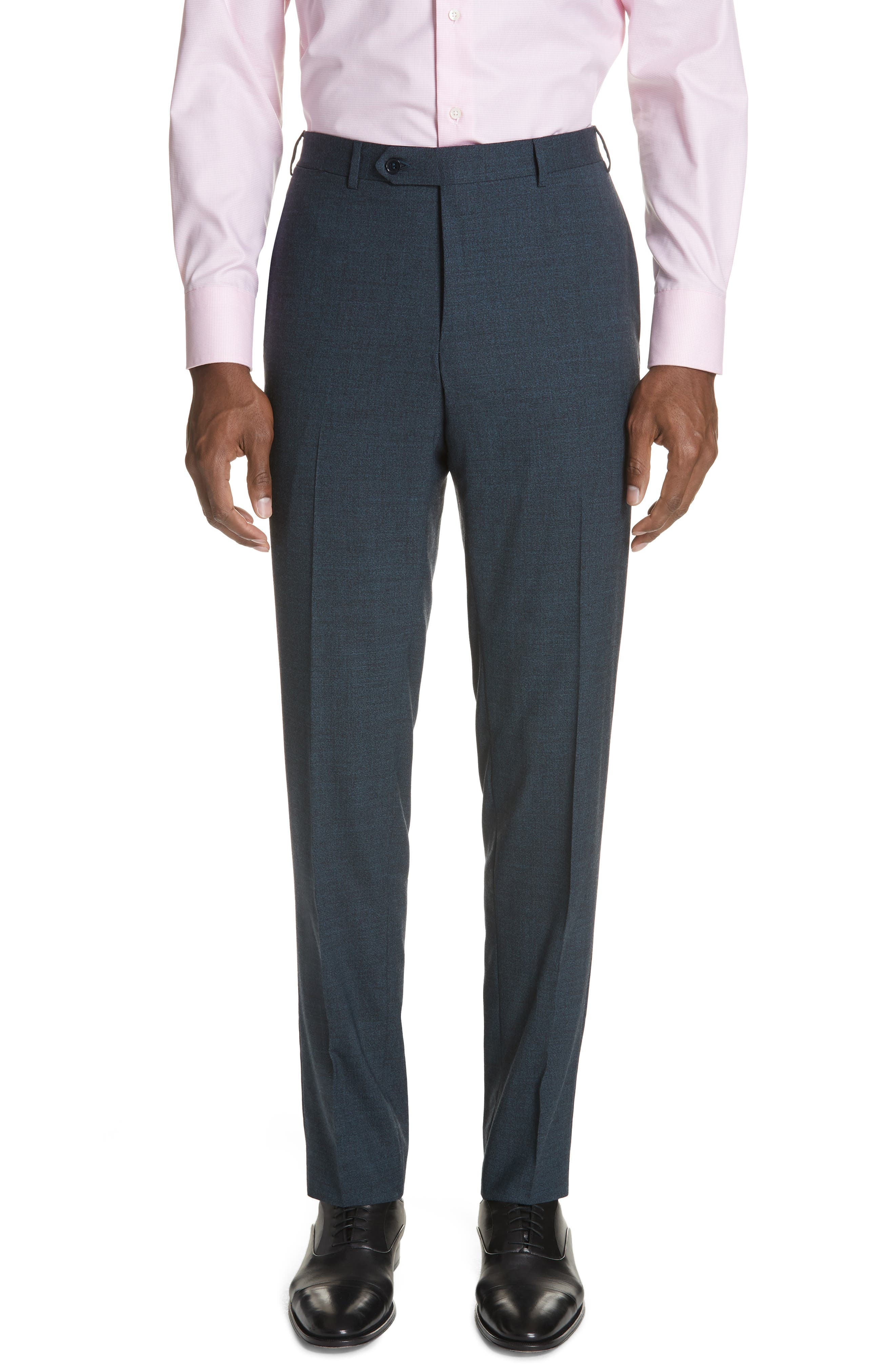 CANALI,                             Classic Fit Stretch Solid Wool Suit,                             Alternate thumbnail 5, color,                             400